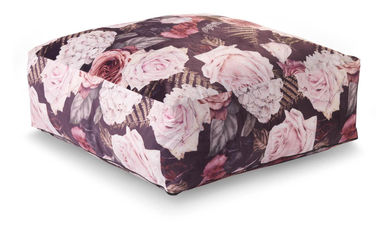 MEREL - Pouf lila 60x60x20 cm