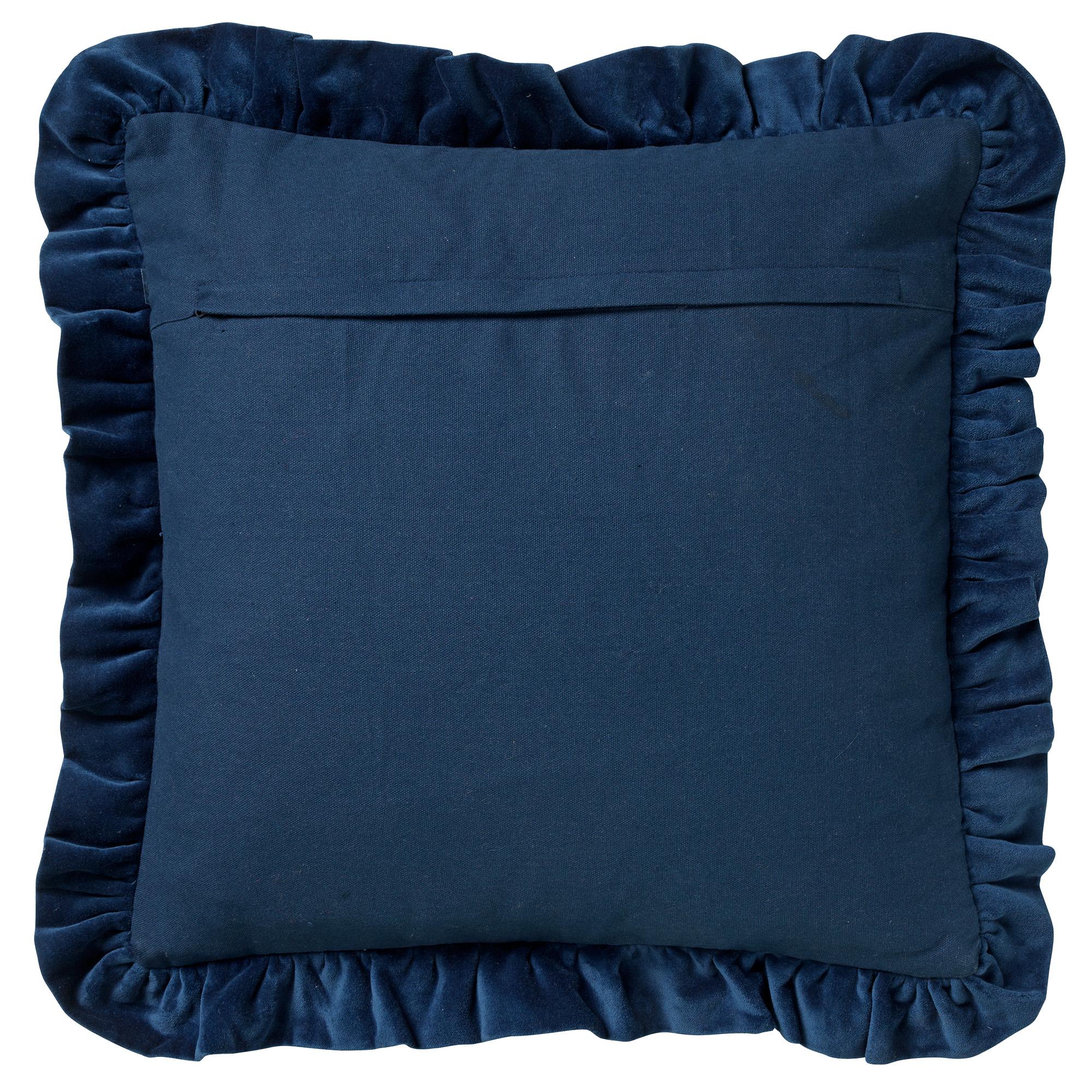 YARA - Sierkussen velvet Insignia Blue 45x45 cm