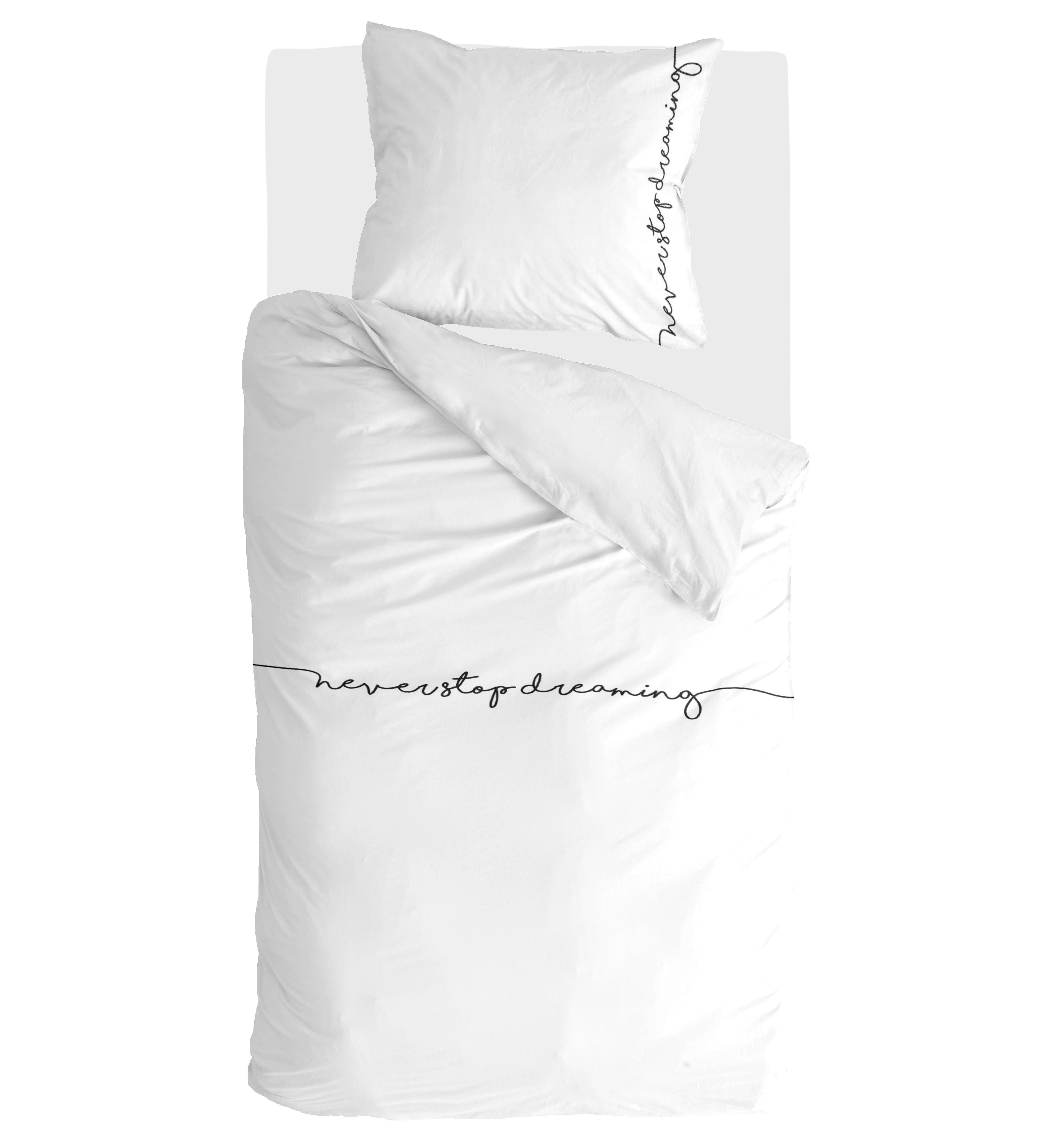 Dekbedovertrek Walra Never Stop Dreaming Wit - 140x220 cm