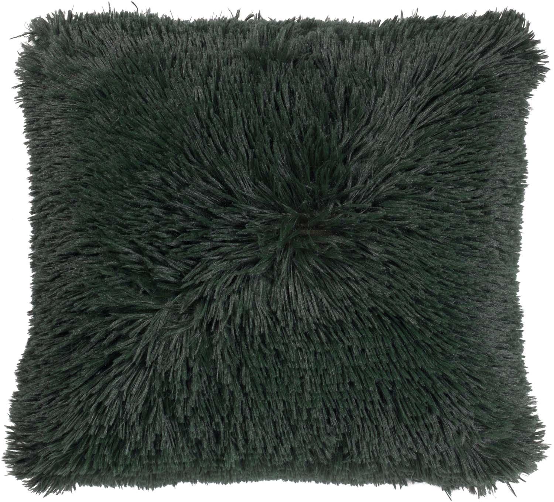FLUFFY - Sierkussen unikleur groen 45x45 cm