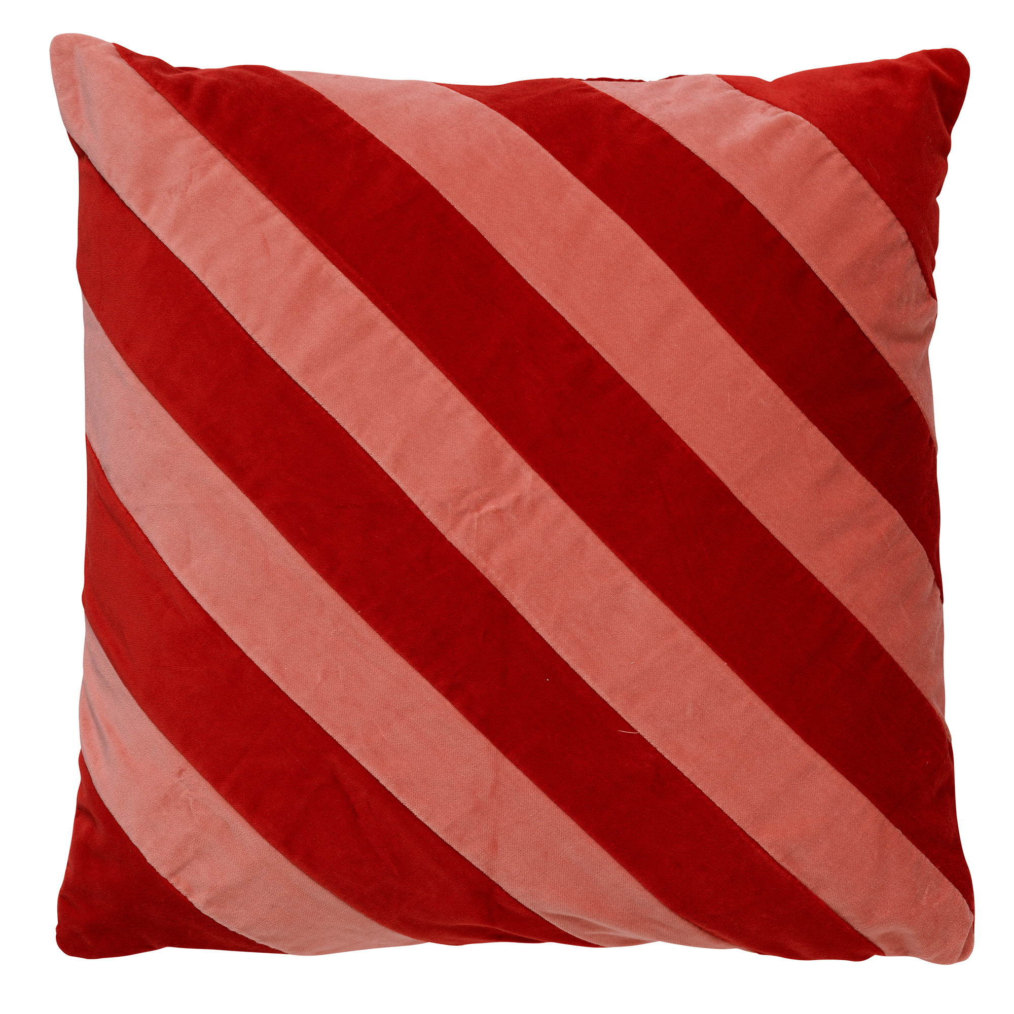 PEBBE - Kussenhoes velvet Aurora Red 45x45 cm