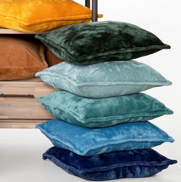 CILLY - Sierkussen van fleece Insignia Blue 45x45 cm