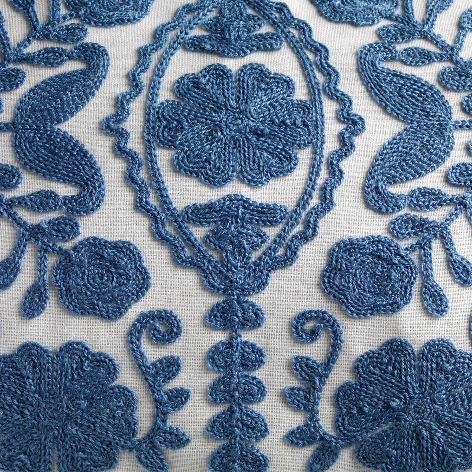 MIMI - Sierkussen van katoen Provincial Blue 30x50 cm