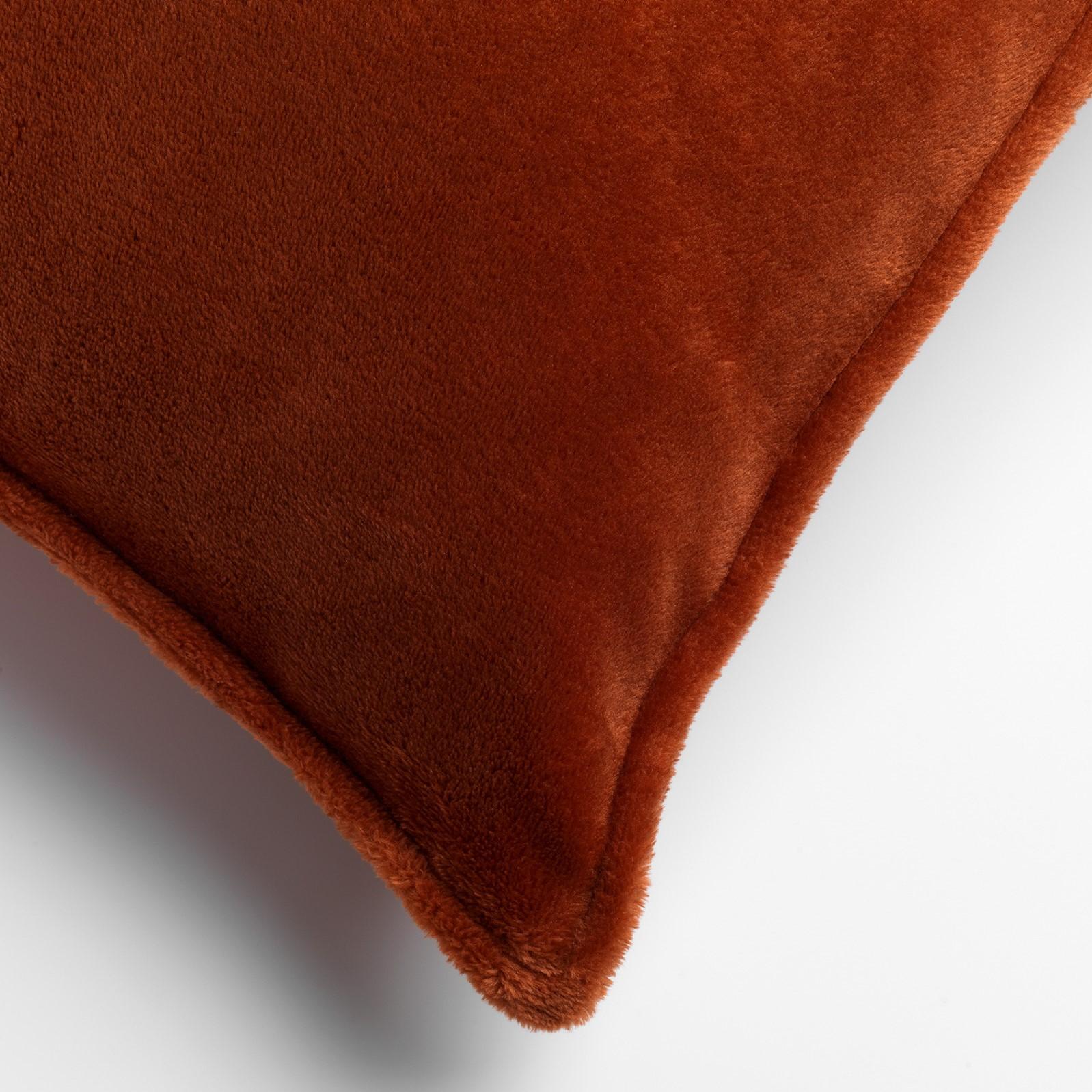 CILLY - Sierkussen van fleece Potters Clay 45x45 cm