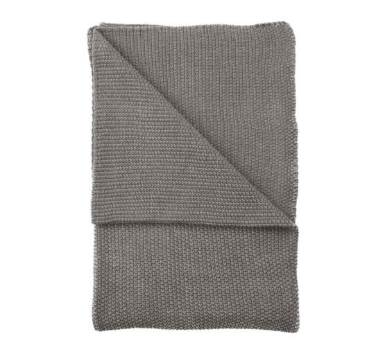 BAUKE - Walra Plaid grijs 130x180 cm
