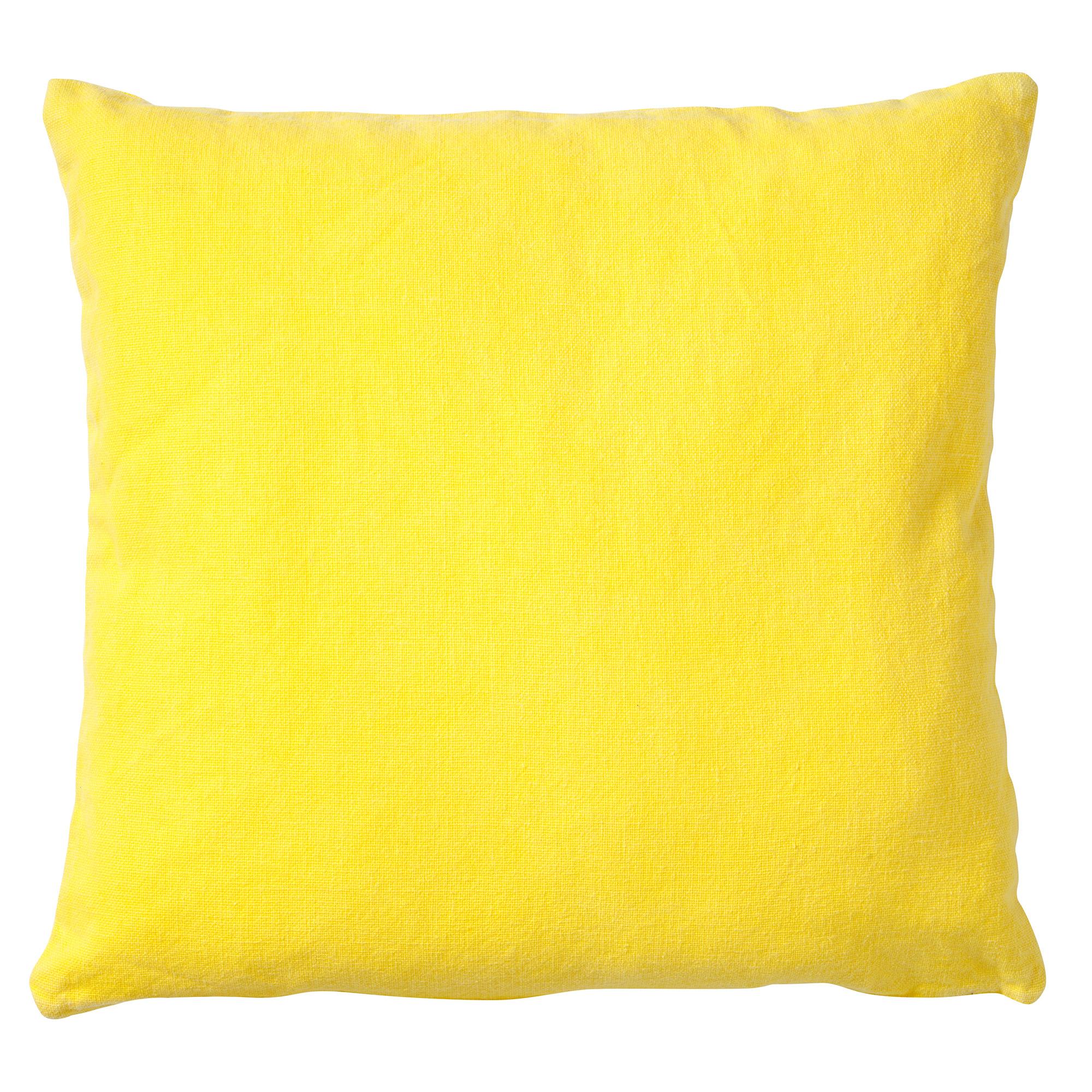 ANNA - Sierkussen geel 50x50 cm