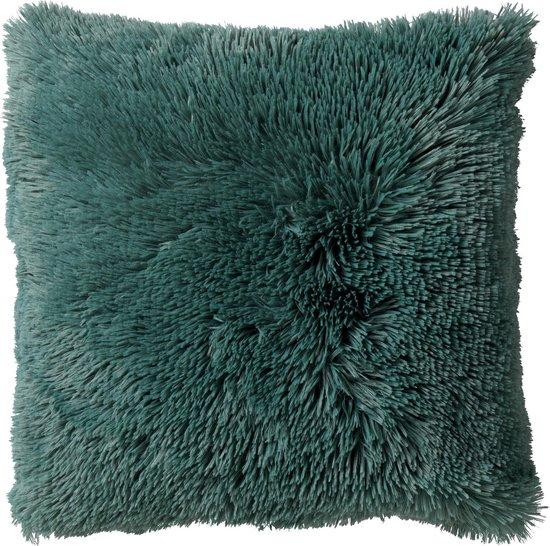 FLUFFY - Sierkussen unikleur Sagebrush Green 60x60 cm