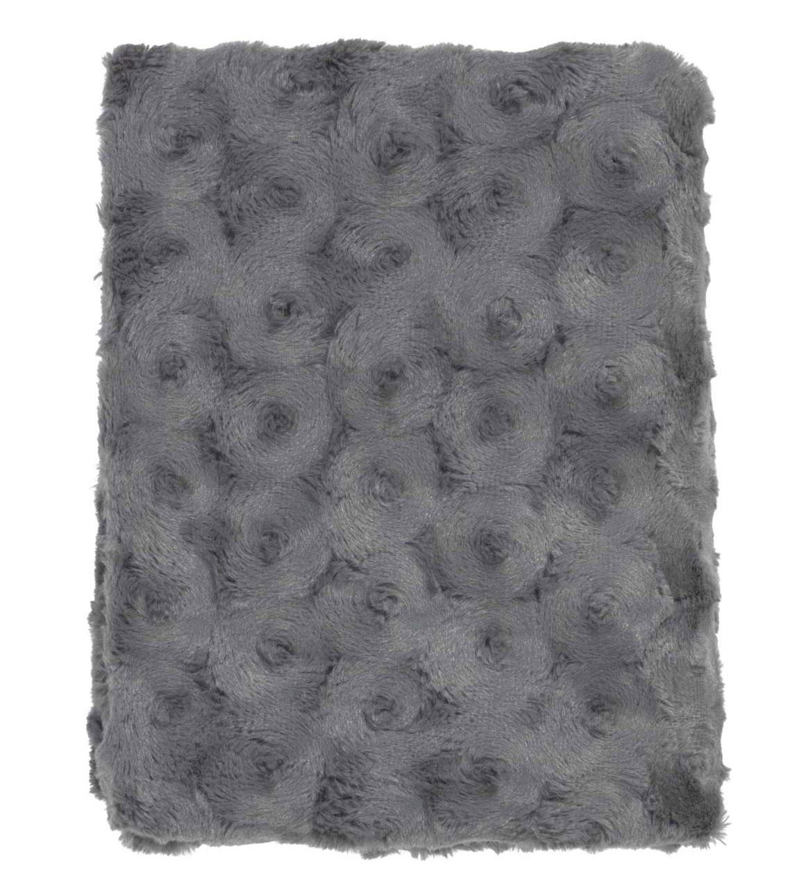 LUGGA - Plaid donkergrijs 130x180 cm