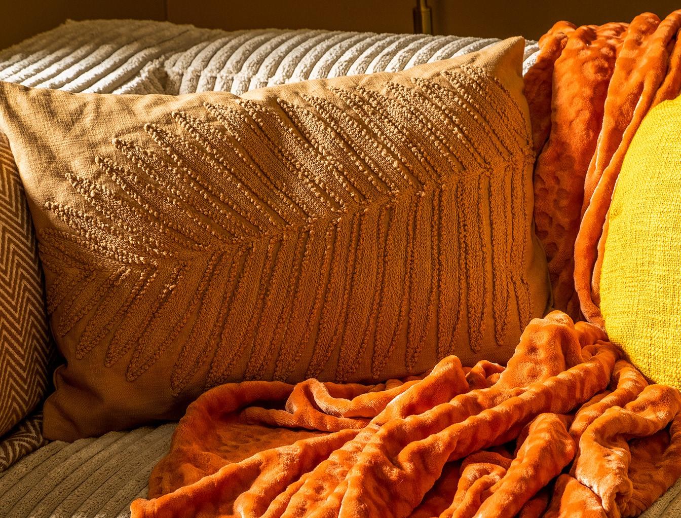LENNY - Sierkussen van katoen 40x60 cm Tobacco Brown