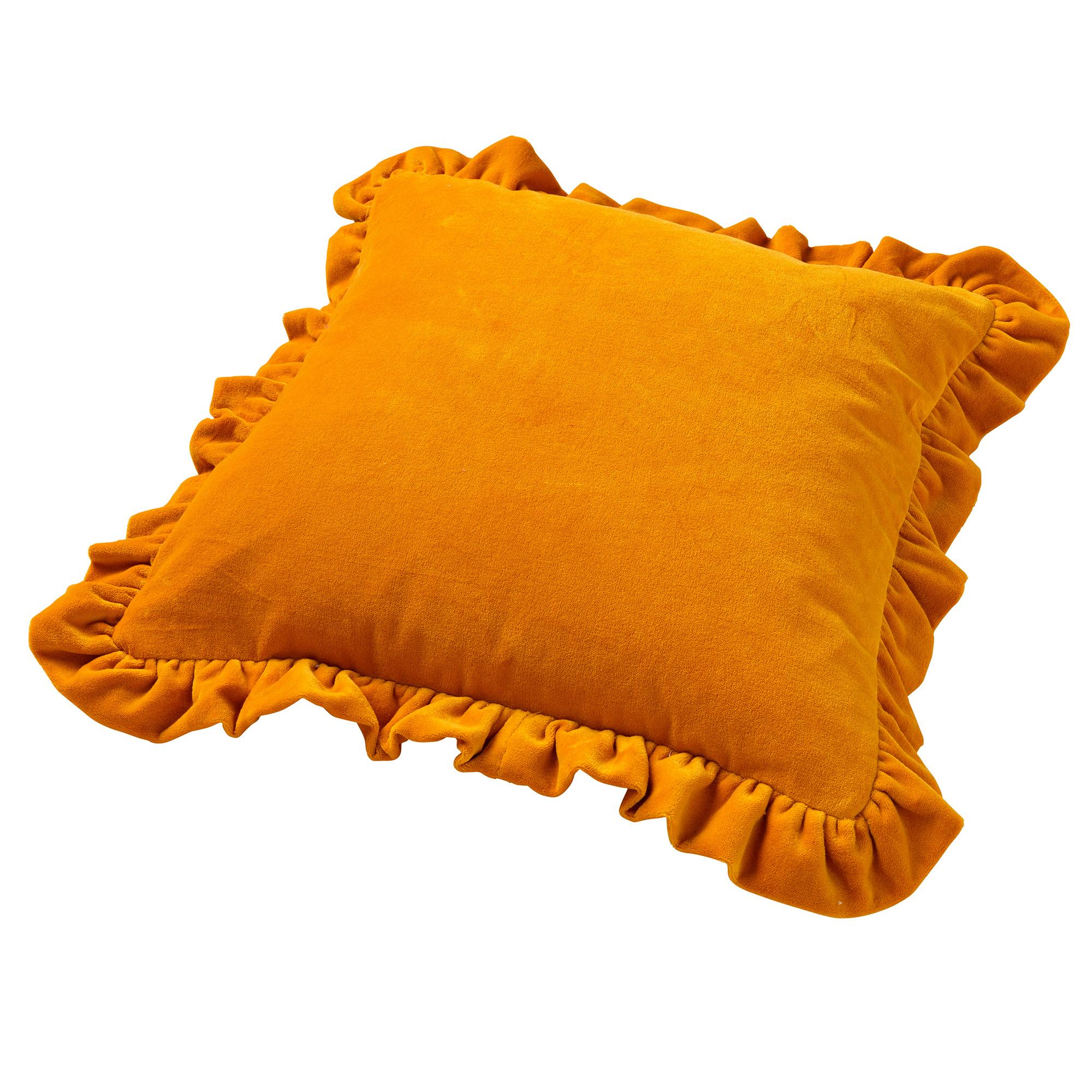 YARA - Sierkussen velvet Golden Glow 45x45 cm