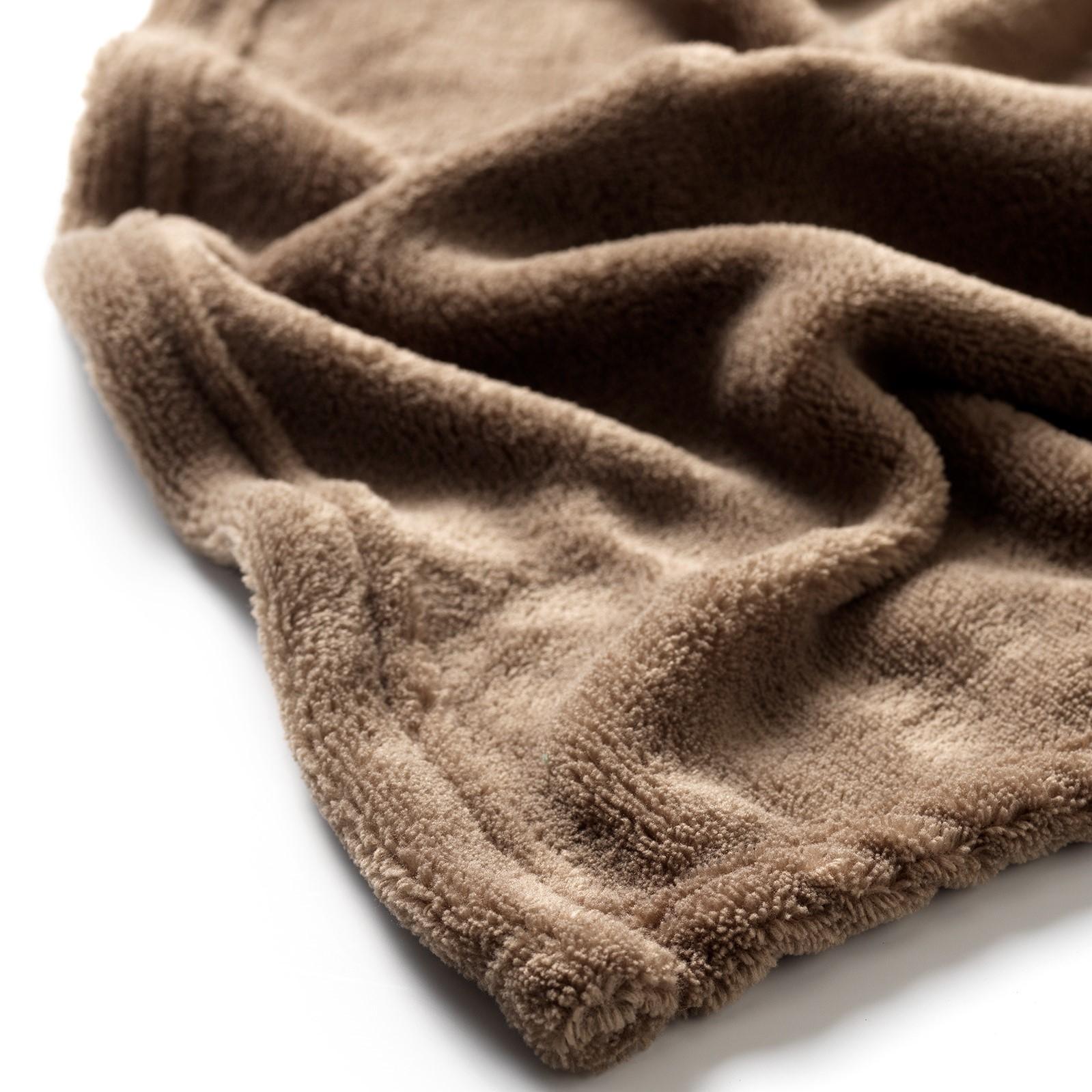 HARVEY - Plaid van fleece Driftwood 150x200 cm