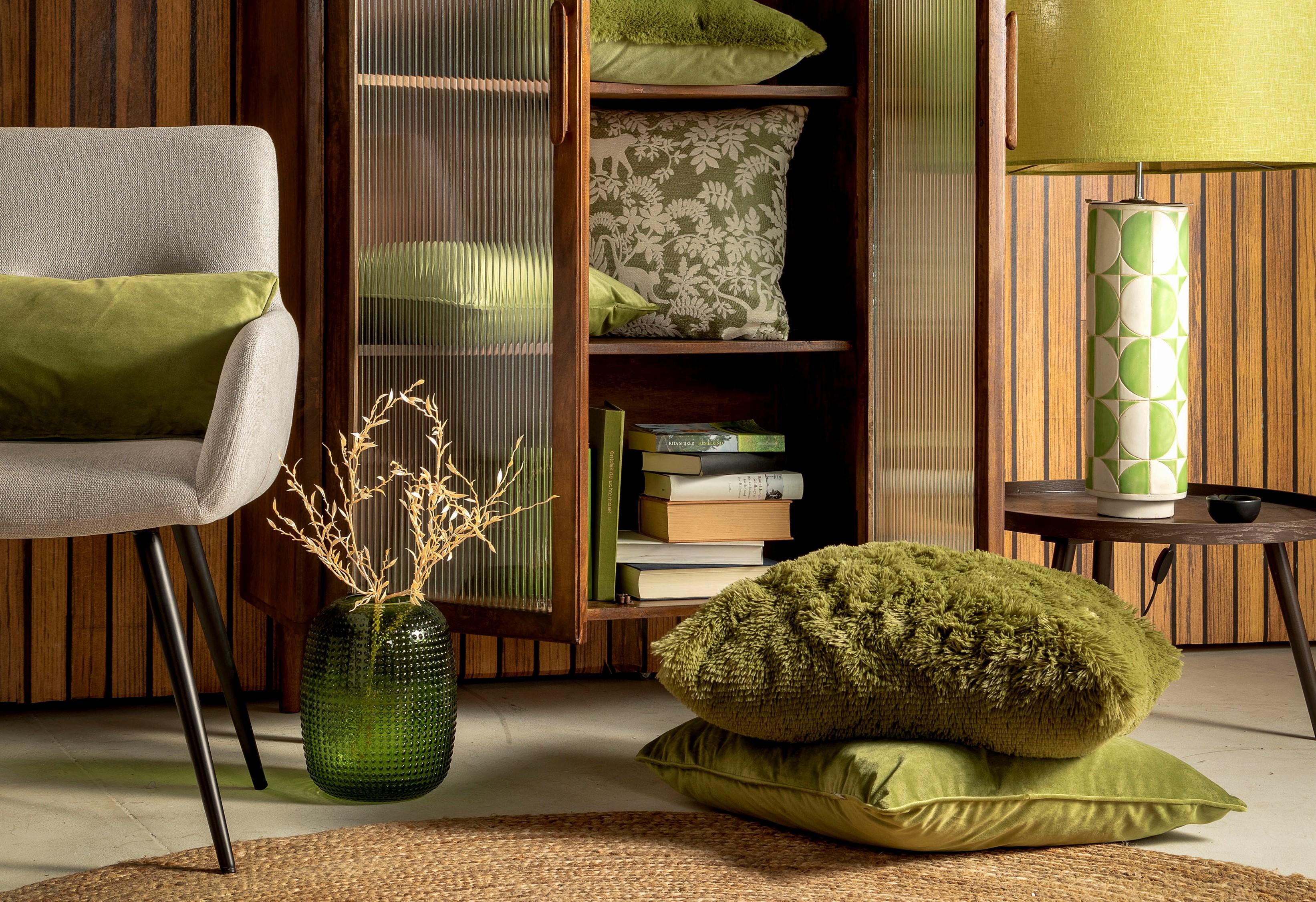 ABU - Sierkussen met dierenprint Calliste Green 45x45 cm