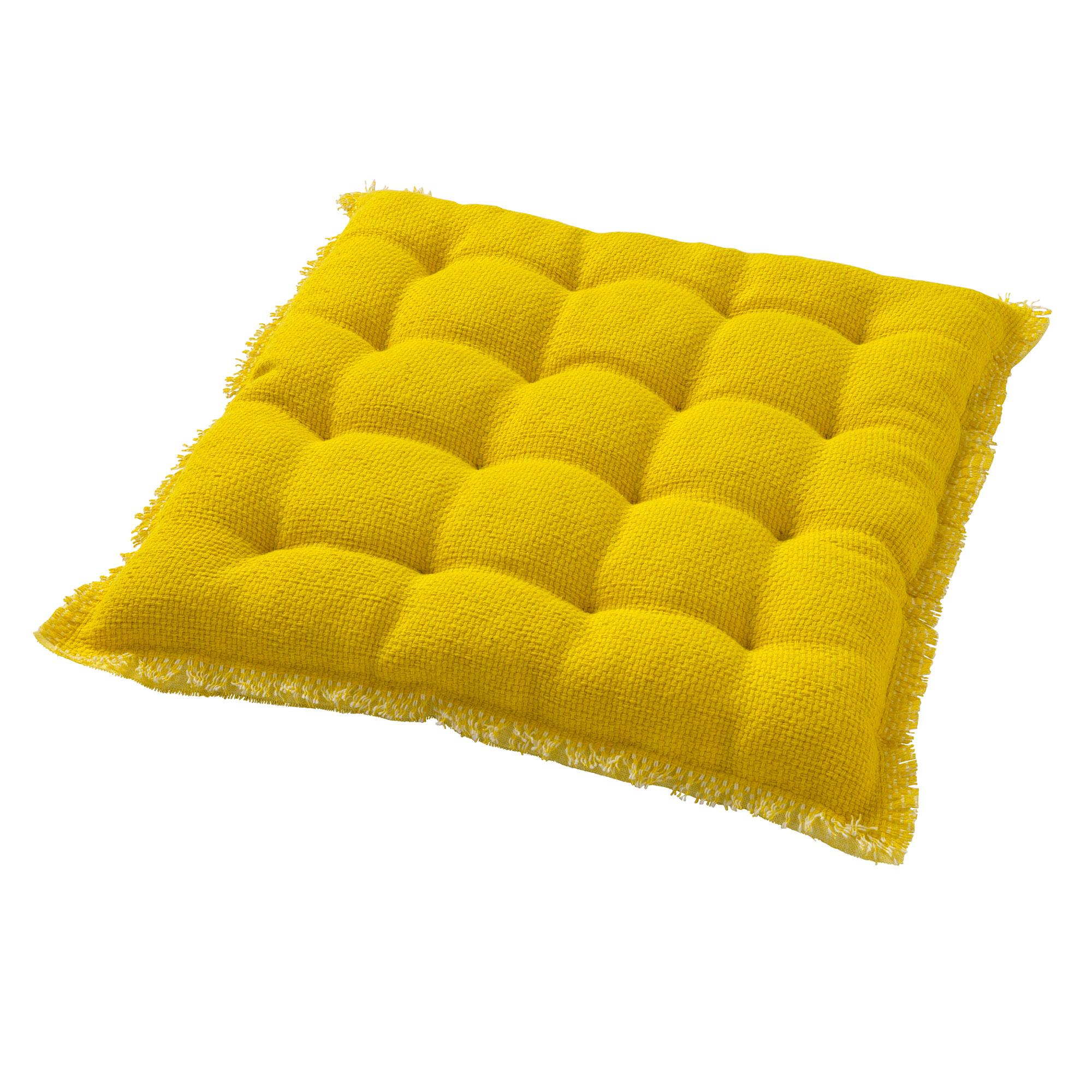 BURTO - Stoelkussen van katoen Lemon 40x40 cm