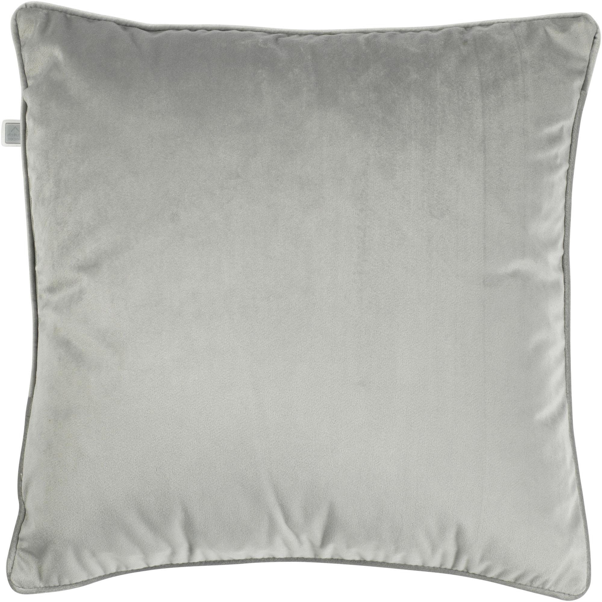 FINN - Sierkussen velvet lichtgrijs 45x45 cm