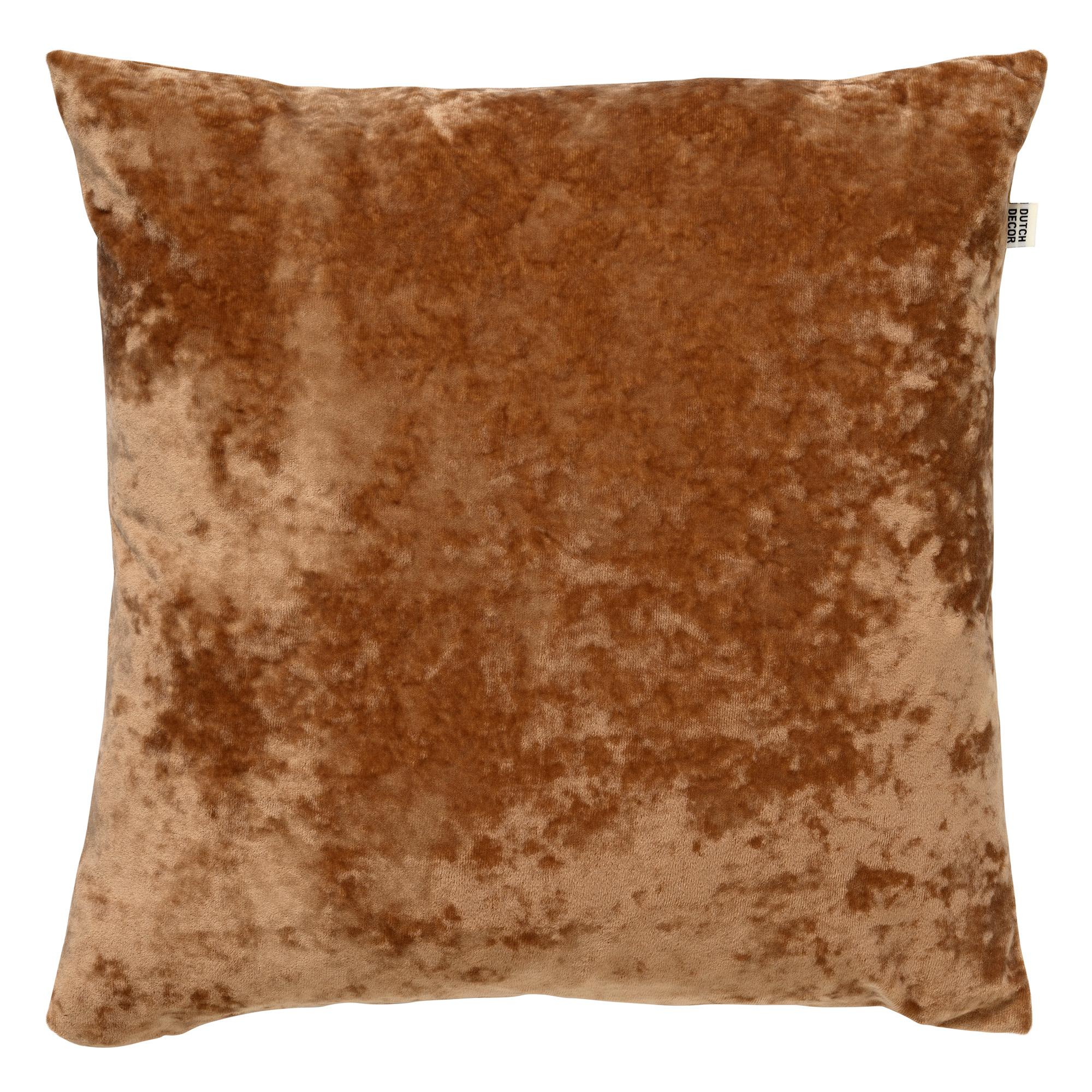 SKY - Sierkussen velvet Tobacco Brown 45x45 cm