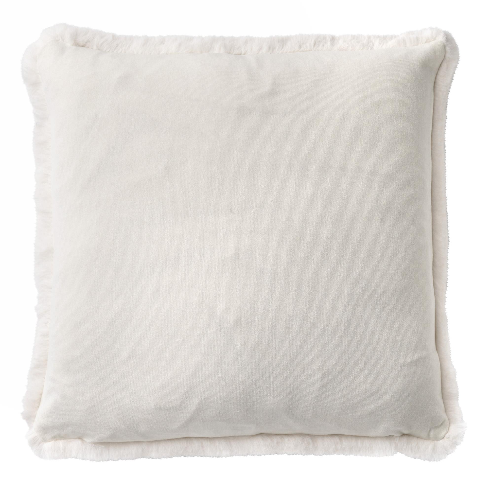 ZAYA - Sierkussen met imitatiebont Snow White 45x45 cm