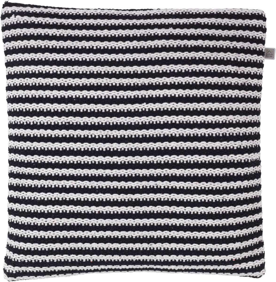 BERTIL - Sierkussen zwart 45x45 cm
