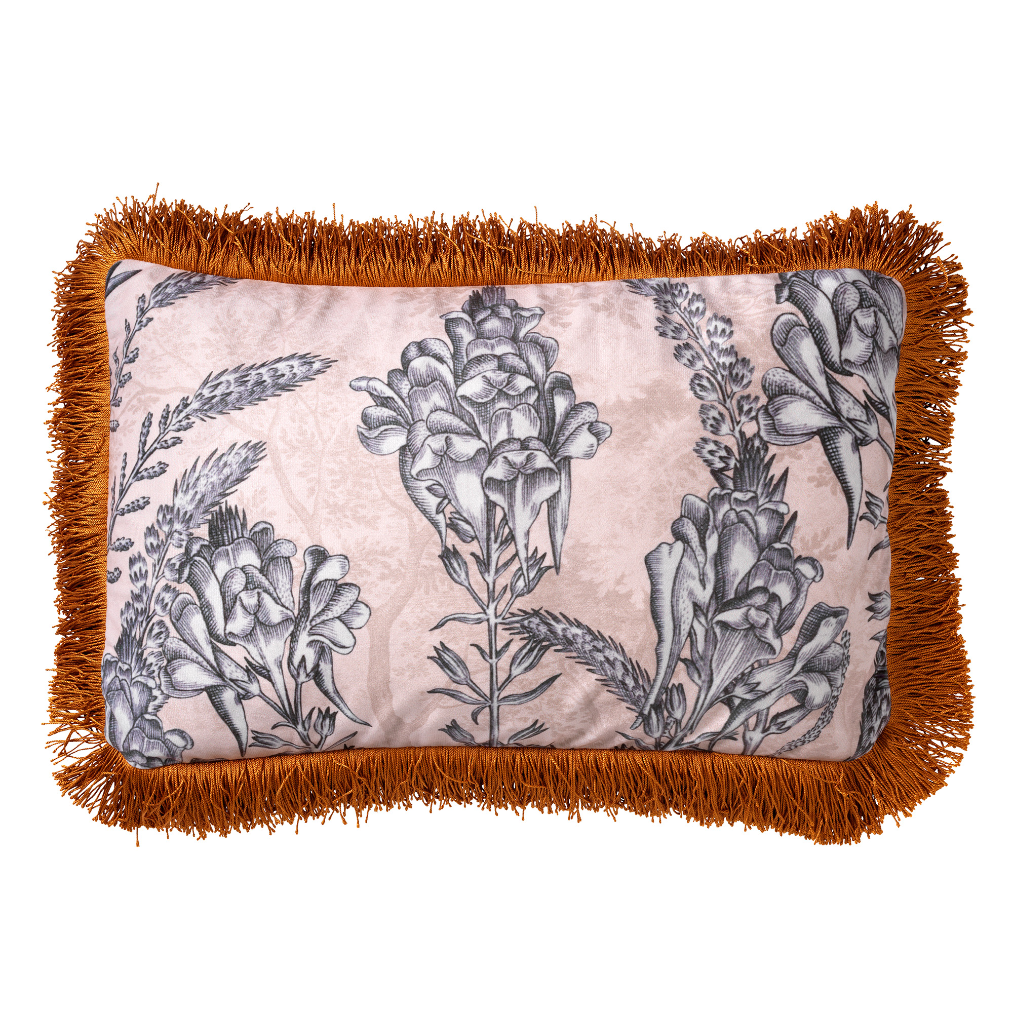 MOTI - Sierkussen met bloemenpatroon 30x50 cm Pumice Stone