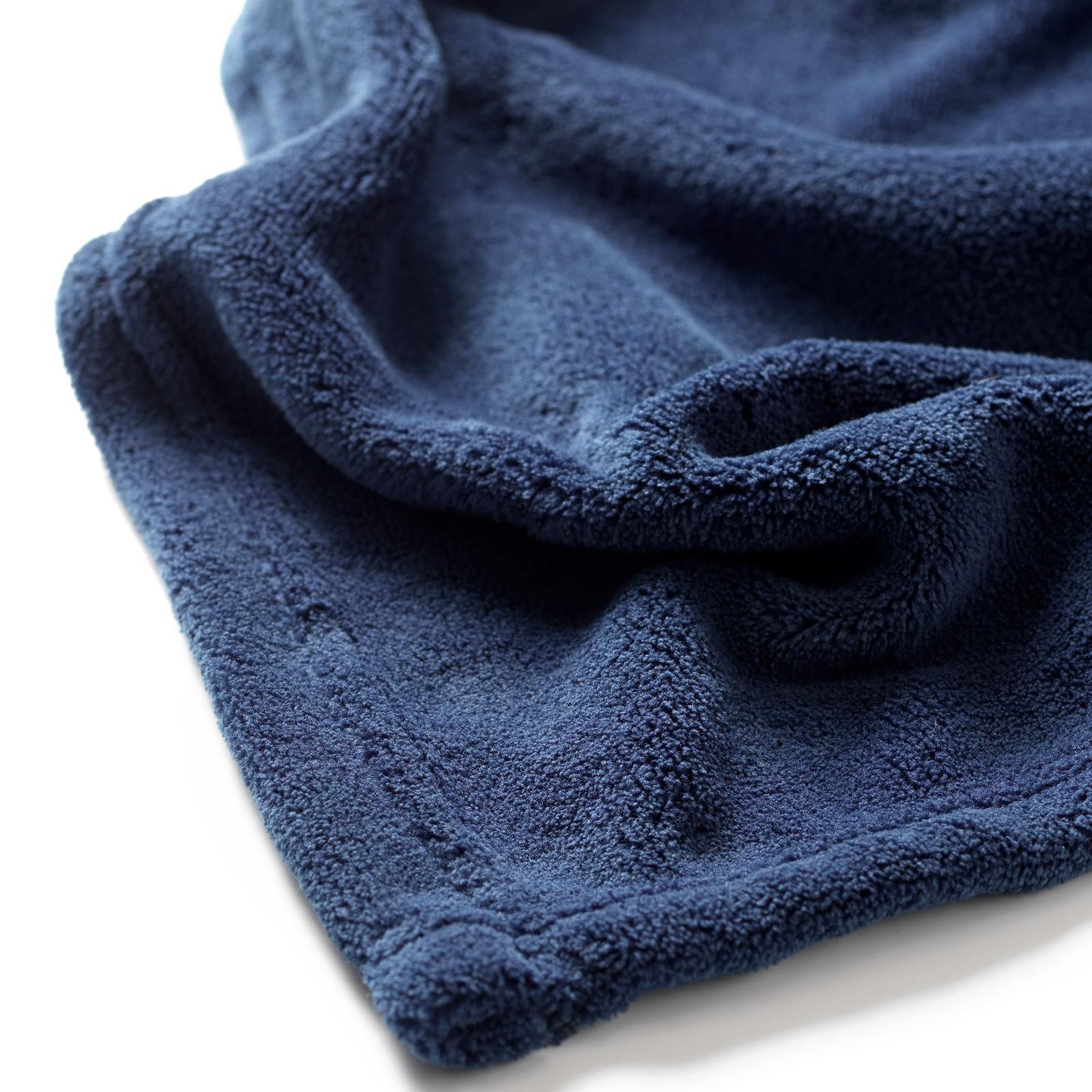 HARVEY - Plaid van fleece Insignia Blue 150x200 cm