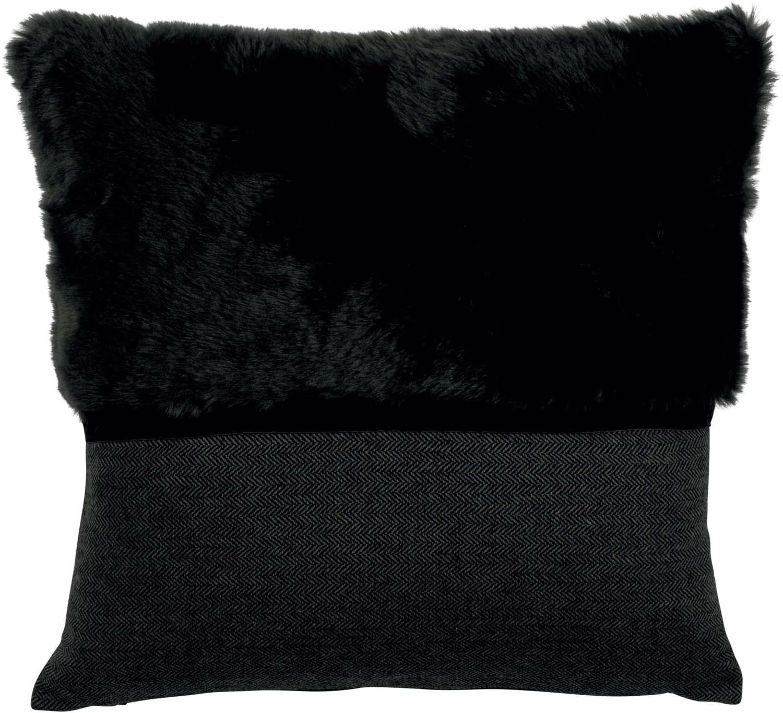 ANGELA - Sierkussen zwart 45x45 cm