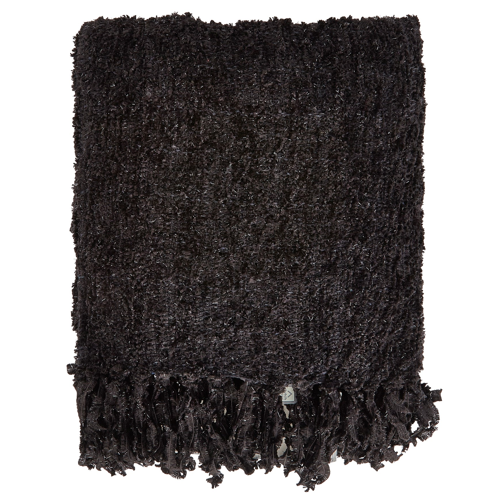 FEDDE - Plaid zwart 130x180 cm