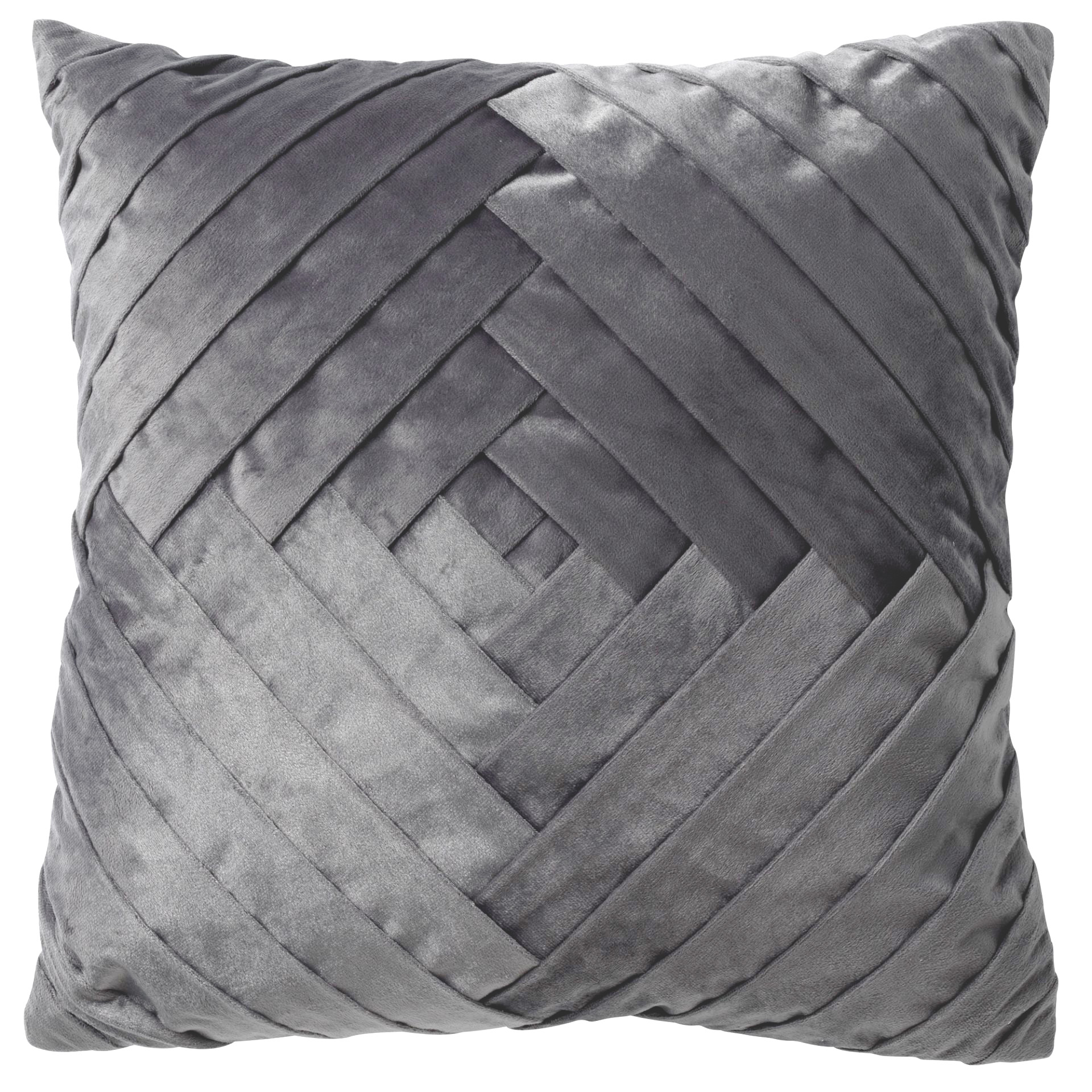 PHILLY - Kussenhoes velvet Charcoal Grey 45x45 cm