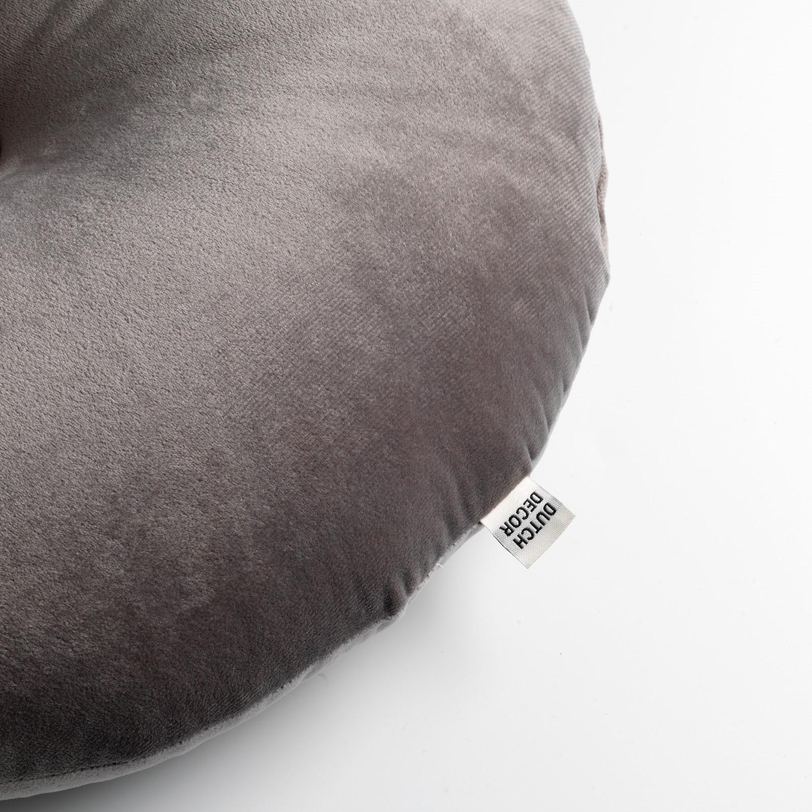 OLLY - Sierkussen rond velvet Driftwood 40 cm