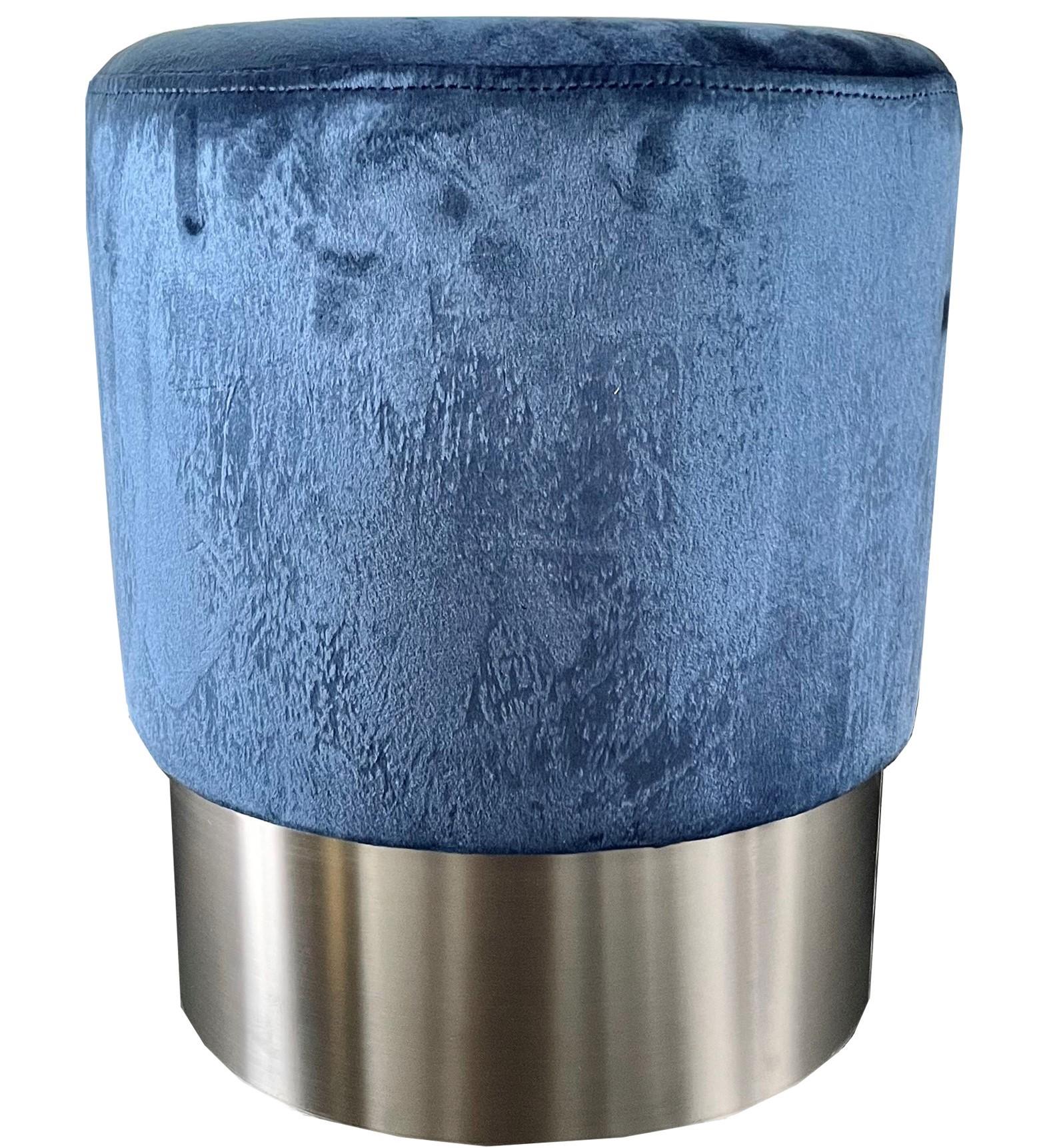 MARIAN - Poef blauw 36x36x44 cm