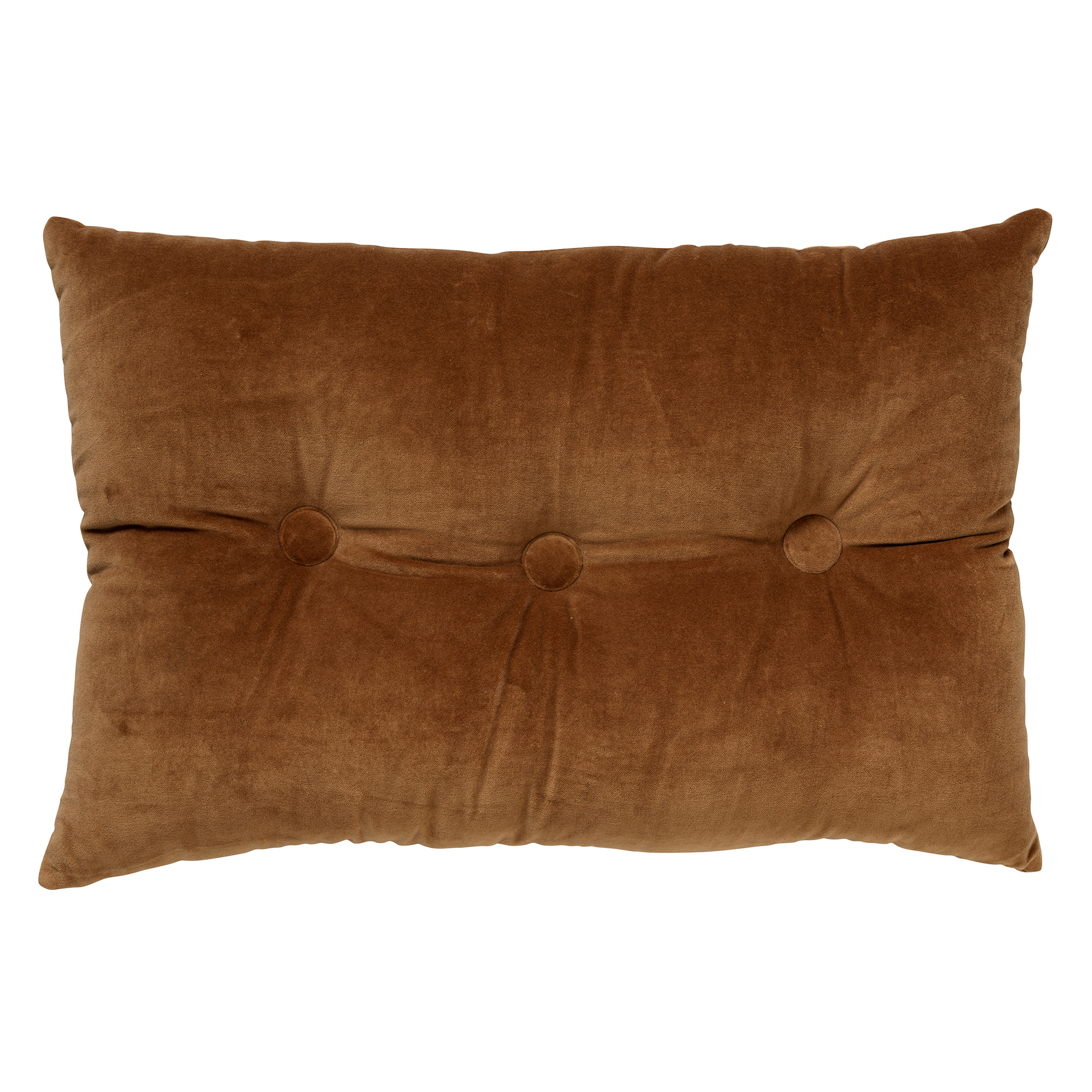 VALERIE - Sierkussen velvet Tobacco Brown 40x60 cm