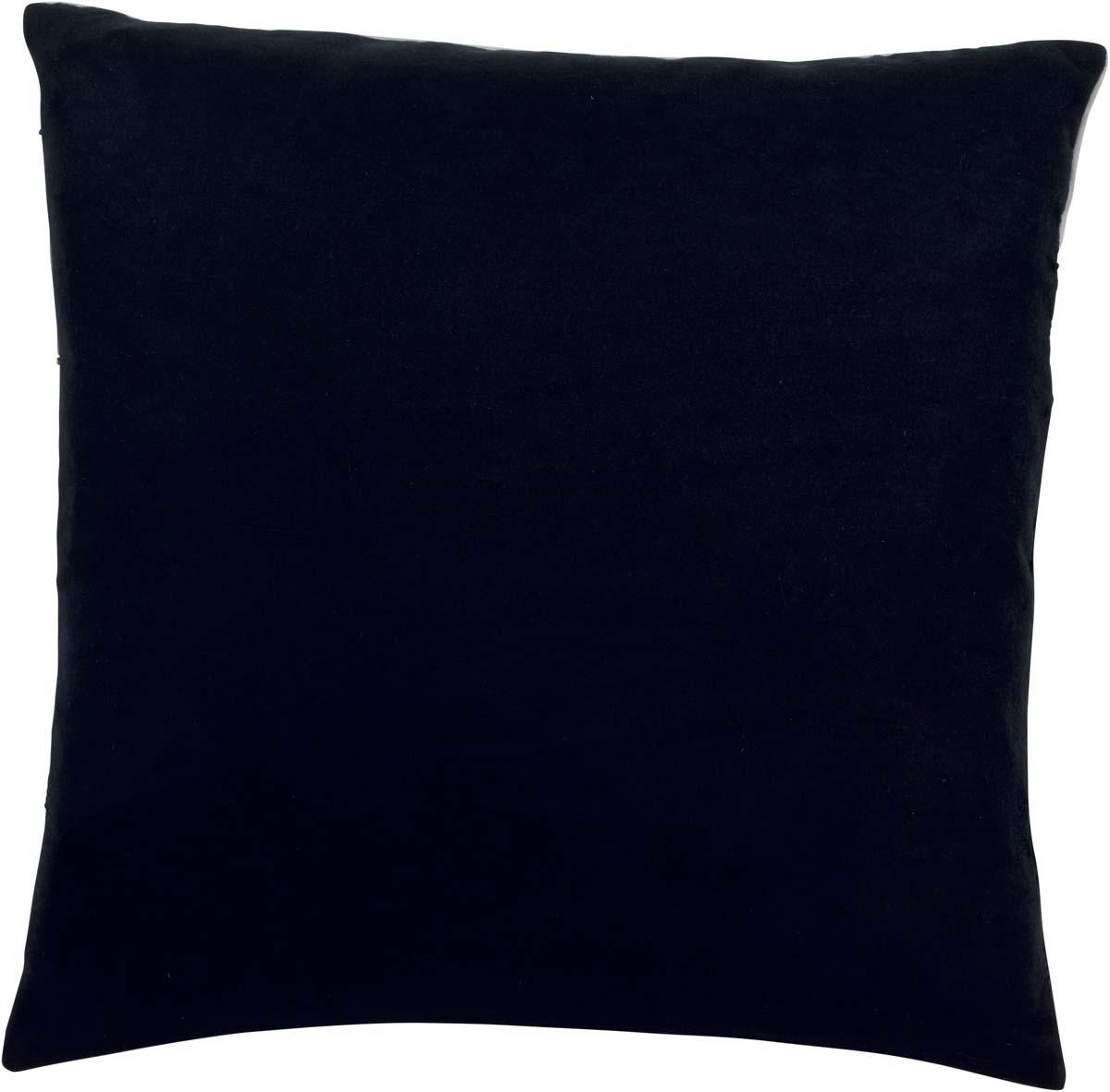 MARJON - Sierkussen zwart wit goud 50x50 cm