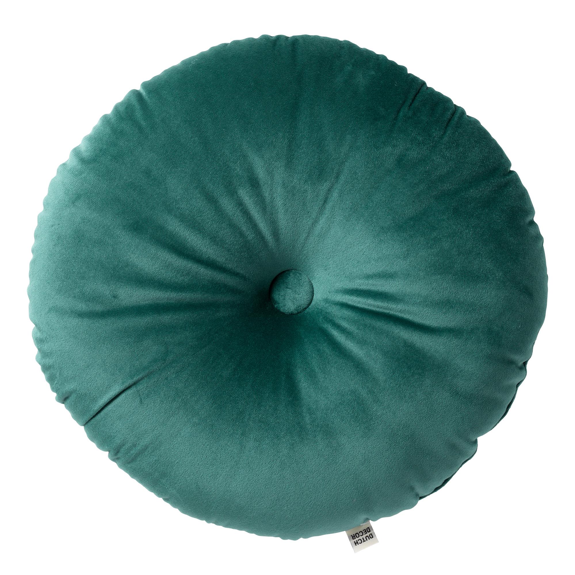 OLLY - Sierkussen rond velvet Sagebrush Green 40 cm
