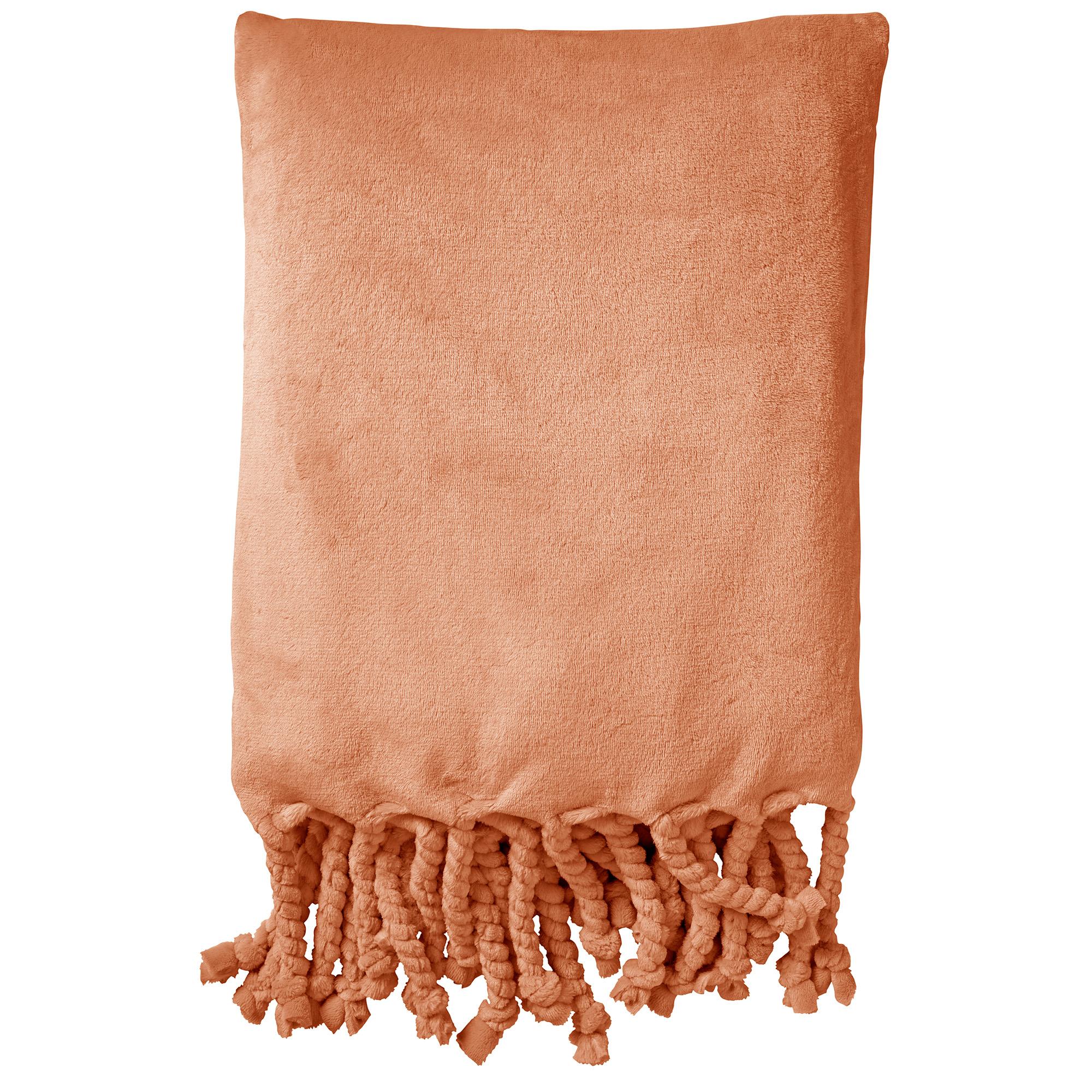 FLORIJN - Plaid van fleece 150x200 cm Muted Clay