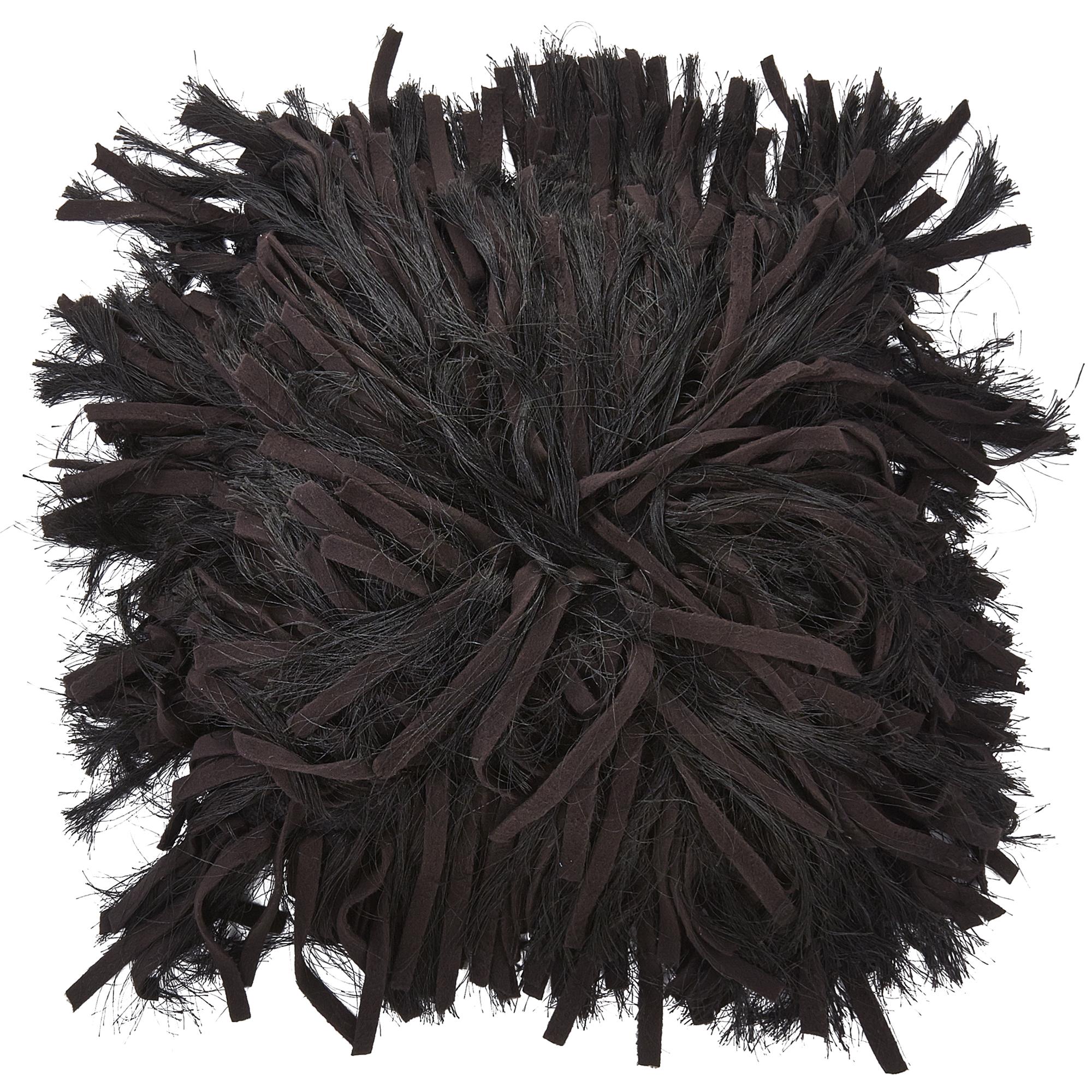 ADOXA - Sierkussen zwart 45x45 cm
