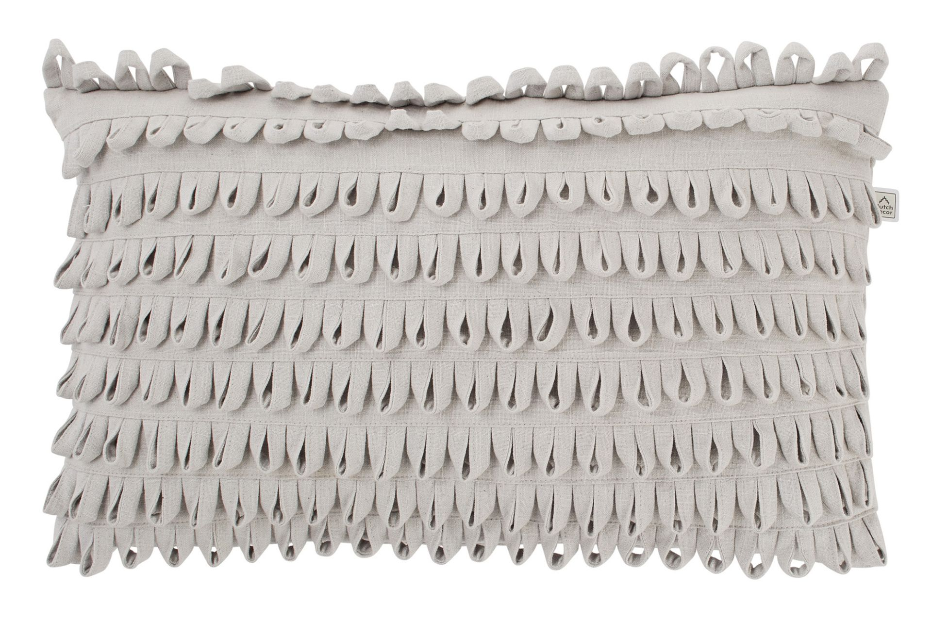DAVIDE - Kussenhoes lichtgrijs 30x50 cm