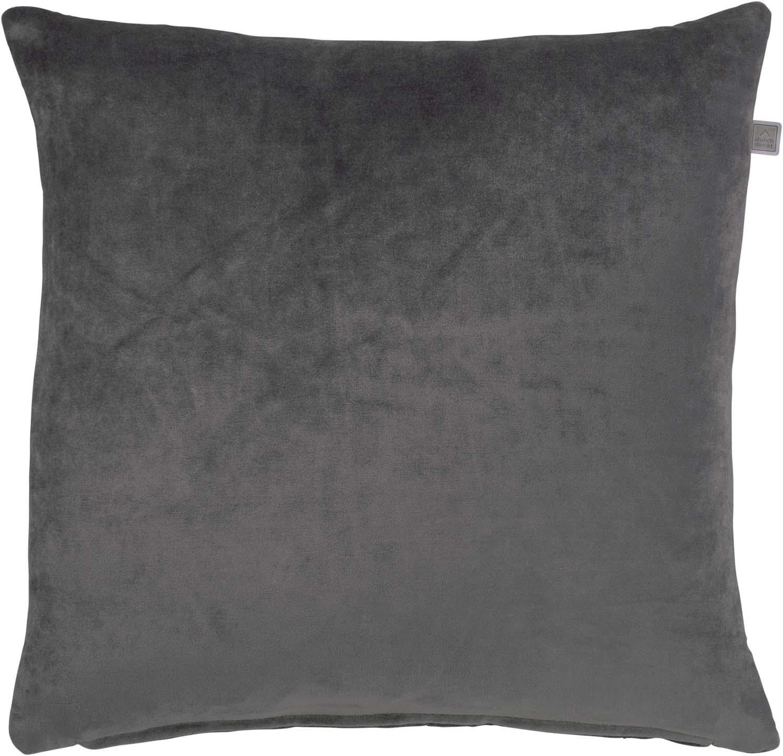 CIDO - Sierkussen velvet donkergrijs 45x45 cm