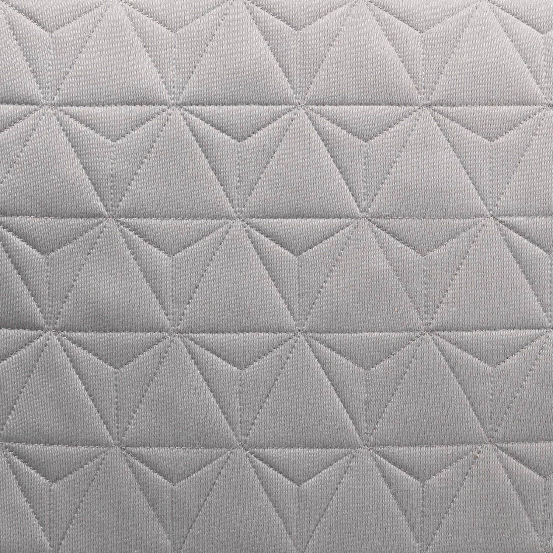 LEWIS - Poef midden grijs 60x60x20 cm