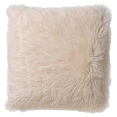 FLUFFY - Sierkussen met imitatiebont ivoor 45x45 cm