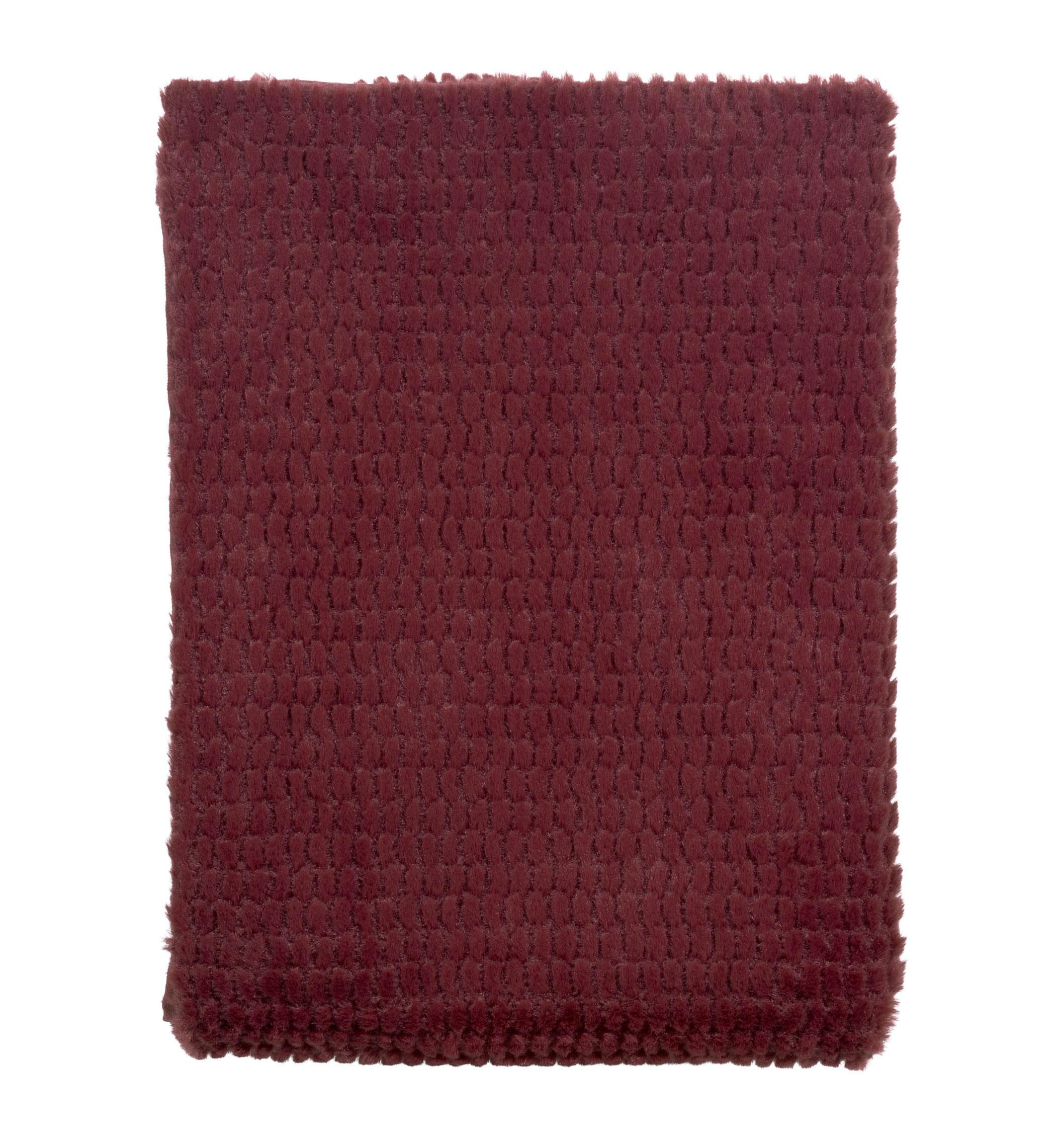 TIMY - Plaid Bordeaux 130x180 cm