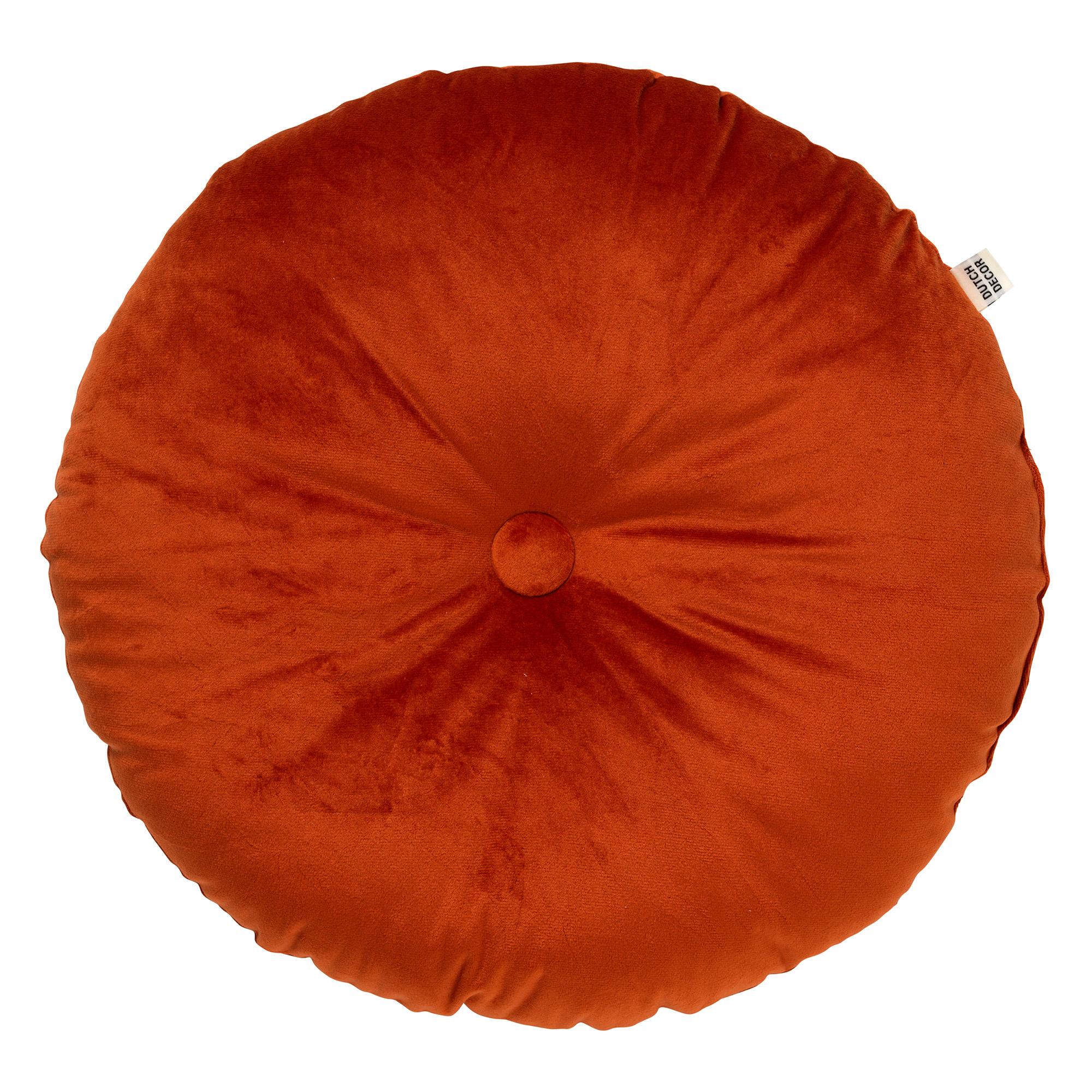 OLLY - Sierkussen rond velvet Potters Clay 40 cm