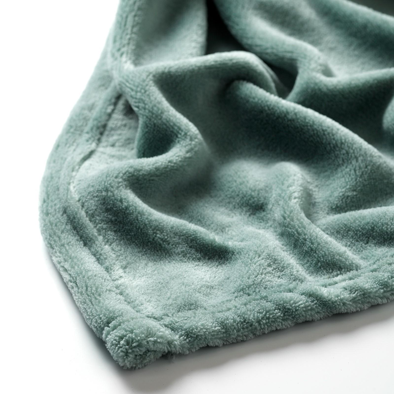 HARVEY - Plaid van fleece Jadeite 150x200 cm