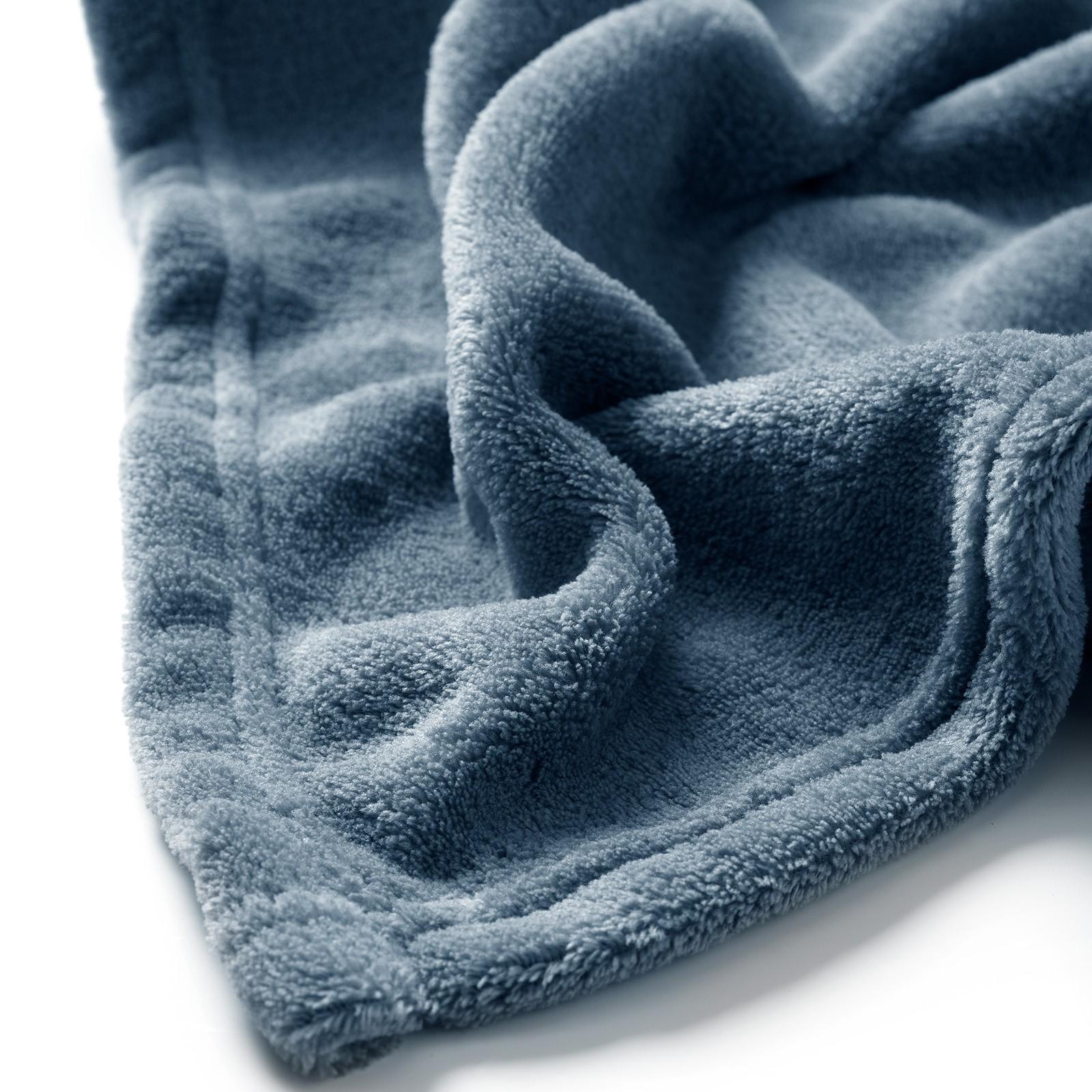 HARVEY - Plaid van fleece Provincial Blue 150x200 cm