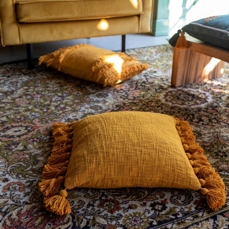 RUBY - Sierkussen van katoen Golden Glow 45x45 cm