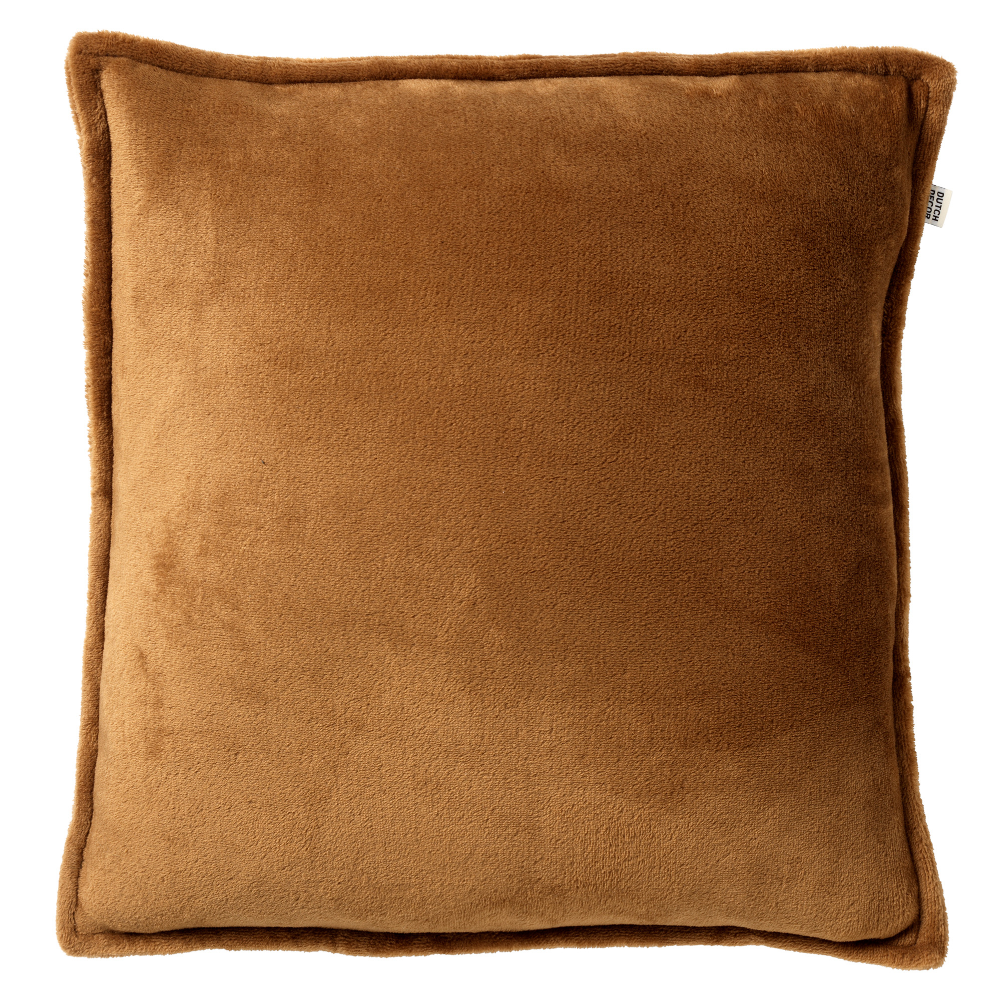CILLY - Sierkussen van fleece Tobacco Brown 45x45 cm