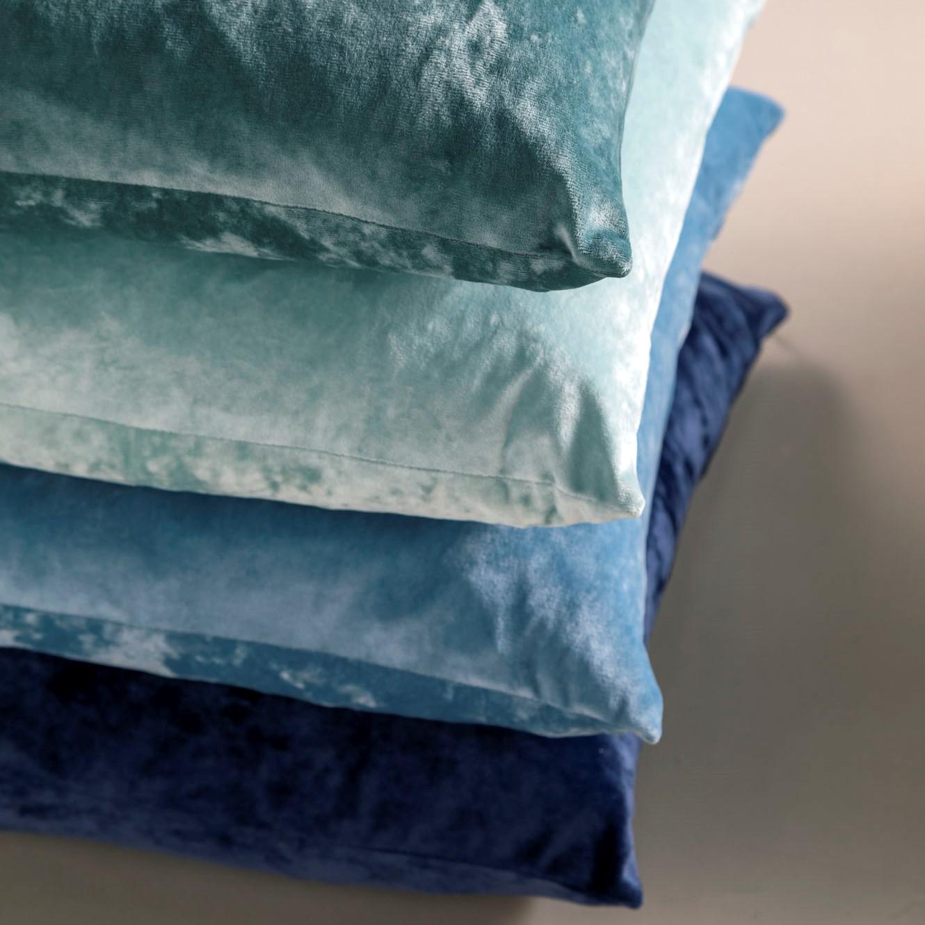 SKY - Sierkussen velvet Provincial Blue 45x45 cm