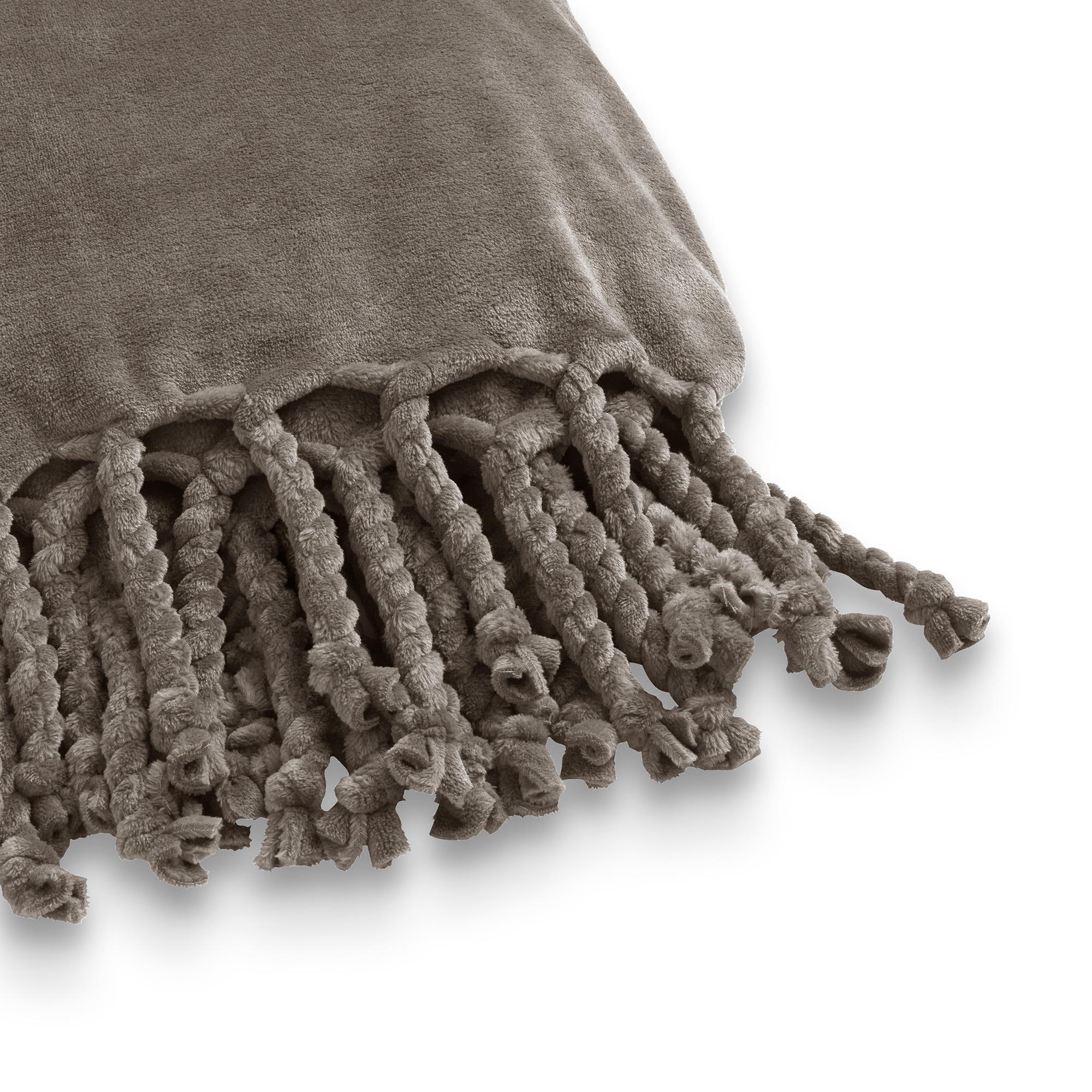 FLORIJN - Plaid van fleece 150x200 cm Driftwood