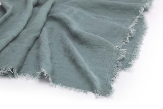 LAID BACK LINEN - Walra Plaid groen 130x180 cm