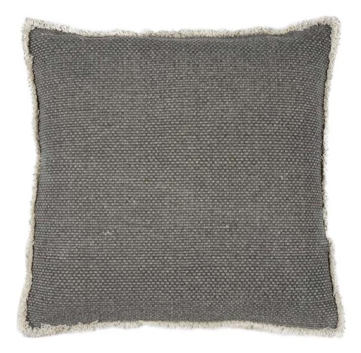 NOOR - Walra sierkussen van katoen grijs 50x50 cm + verenvulling