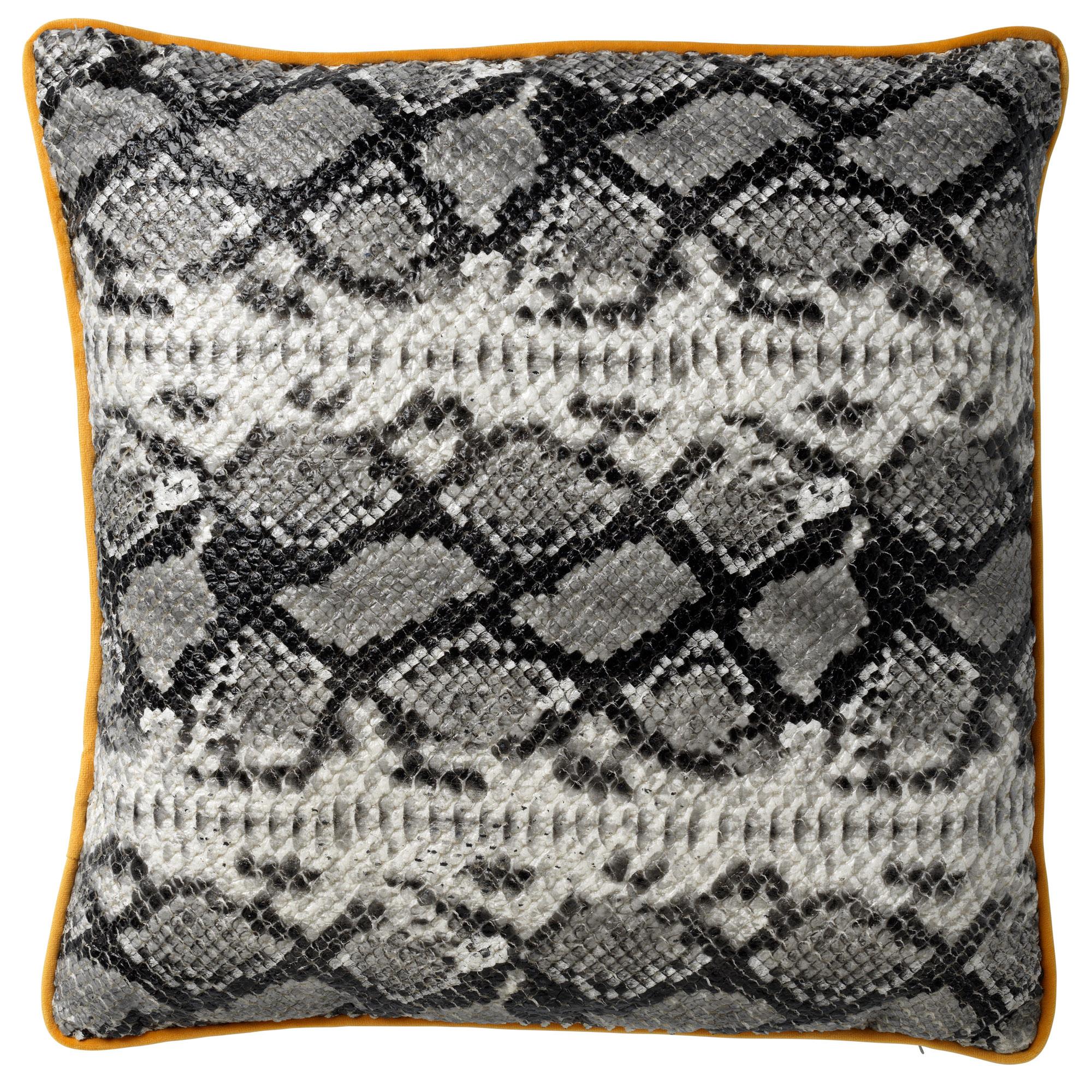 ROAN - Sierkussen met slangenpatroon Charcoal Grey 45x45 cm
