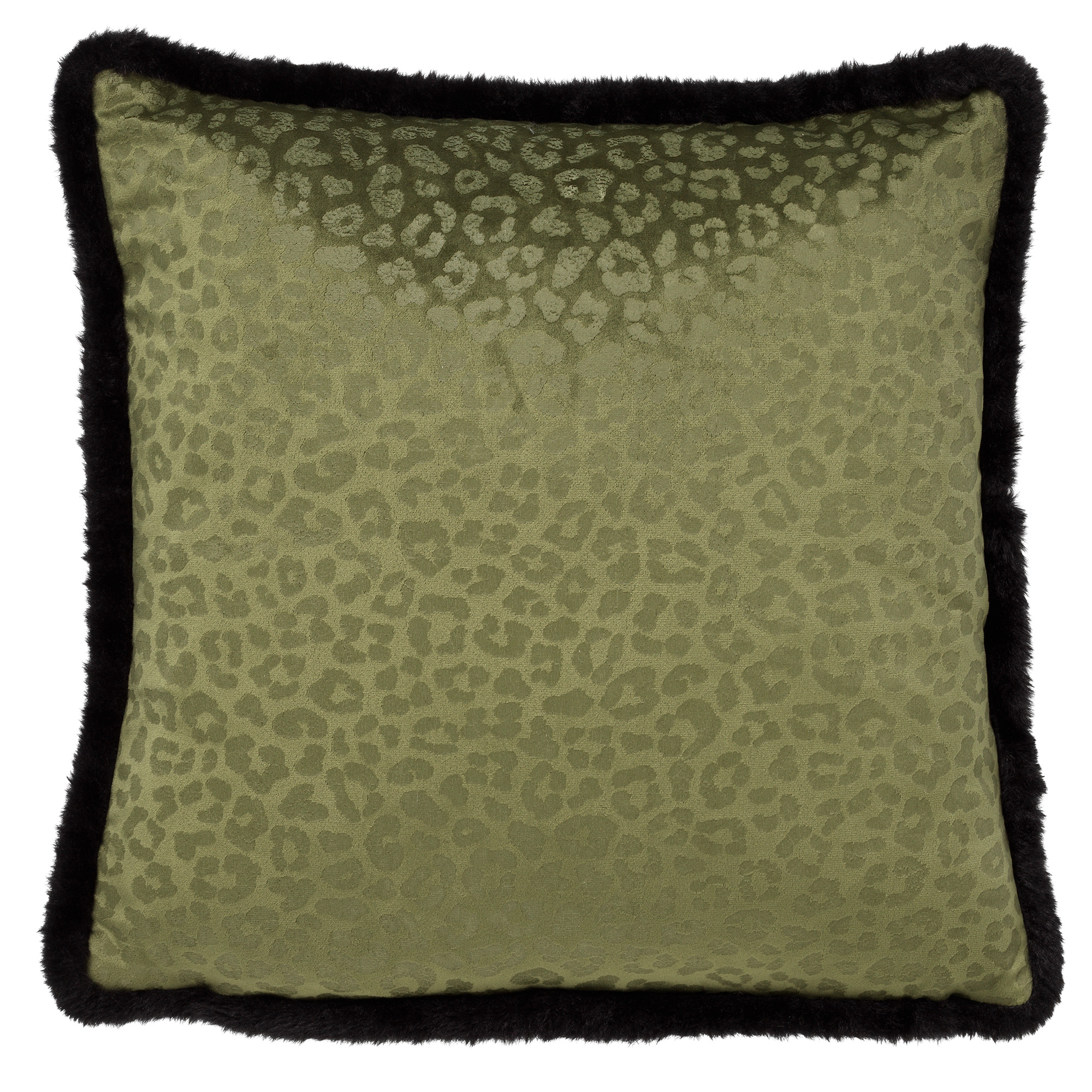 CHEETA - Sierkussen met dierenprint 45x45 cm Chive