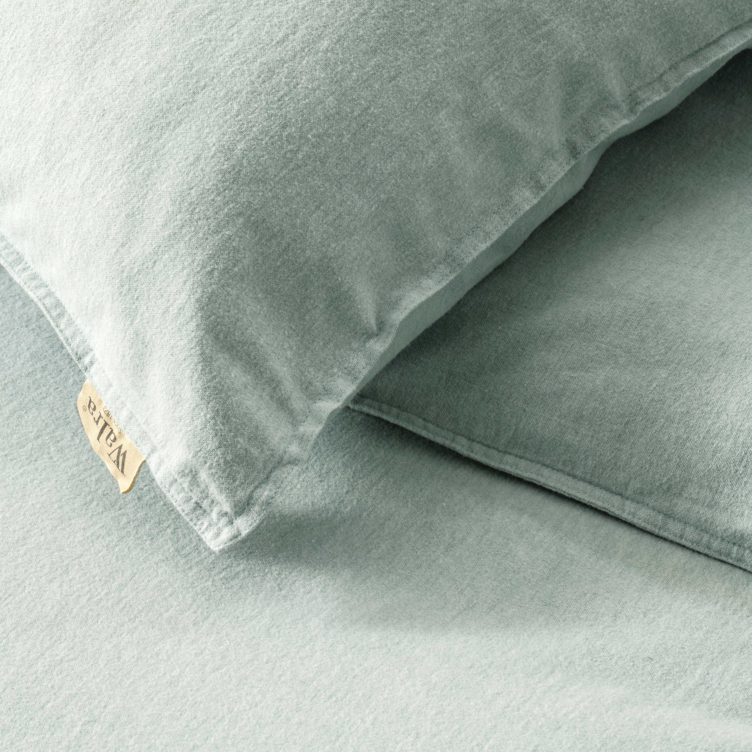 Dekbedovertrek Walra Vintage Flannel Jade 200x20 cm 2-persoons dekbedovertrek